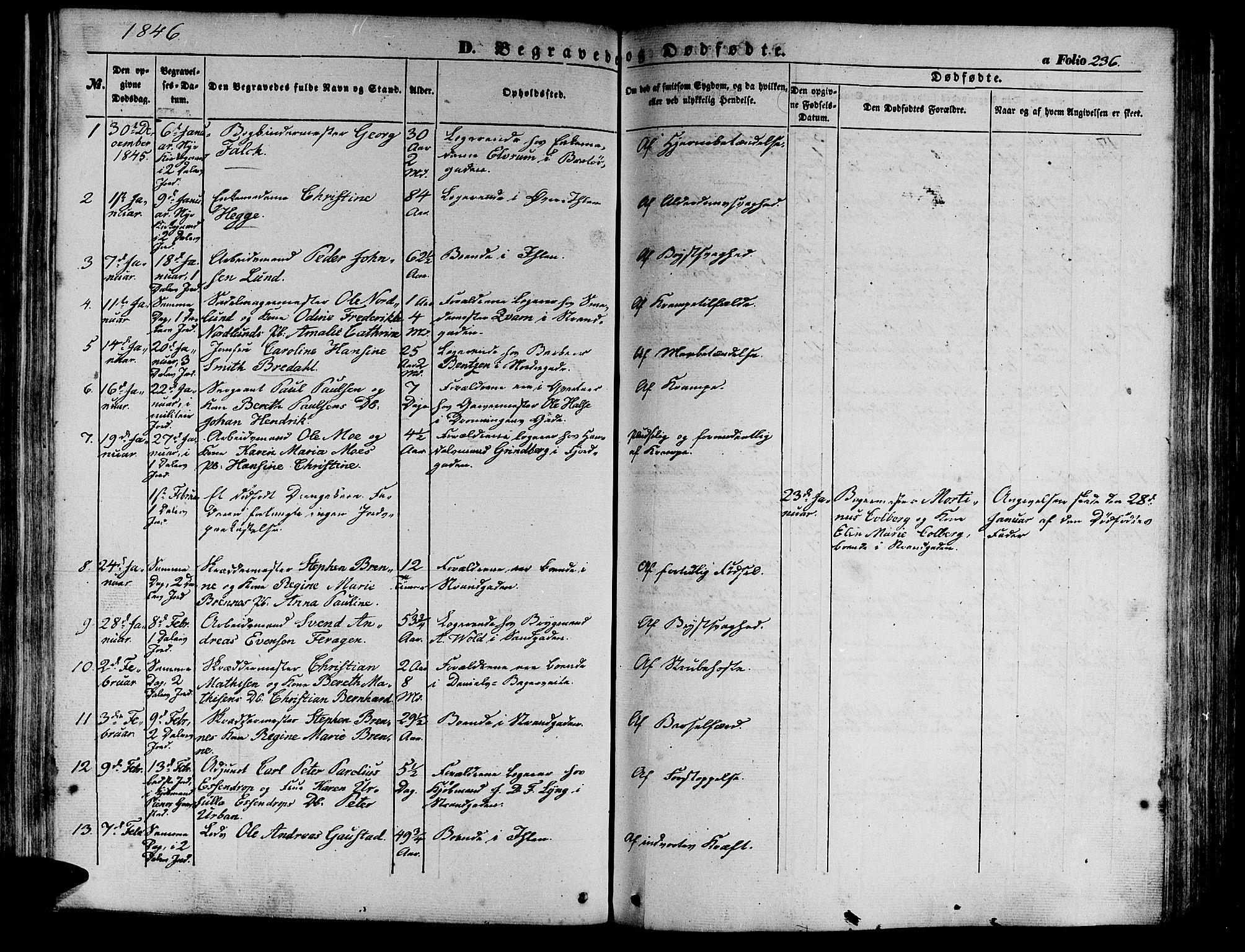 SAT, Ministerialprotokoller, klokkerbøker og fødselsregistre - Sør-Trøndelag, 602/L0137: Klokkerbok nr. 602C05, 1846-1856, s. 236