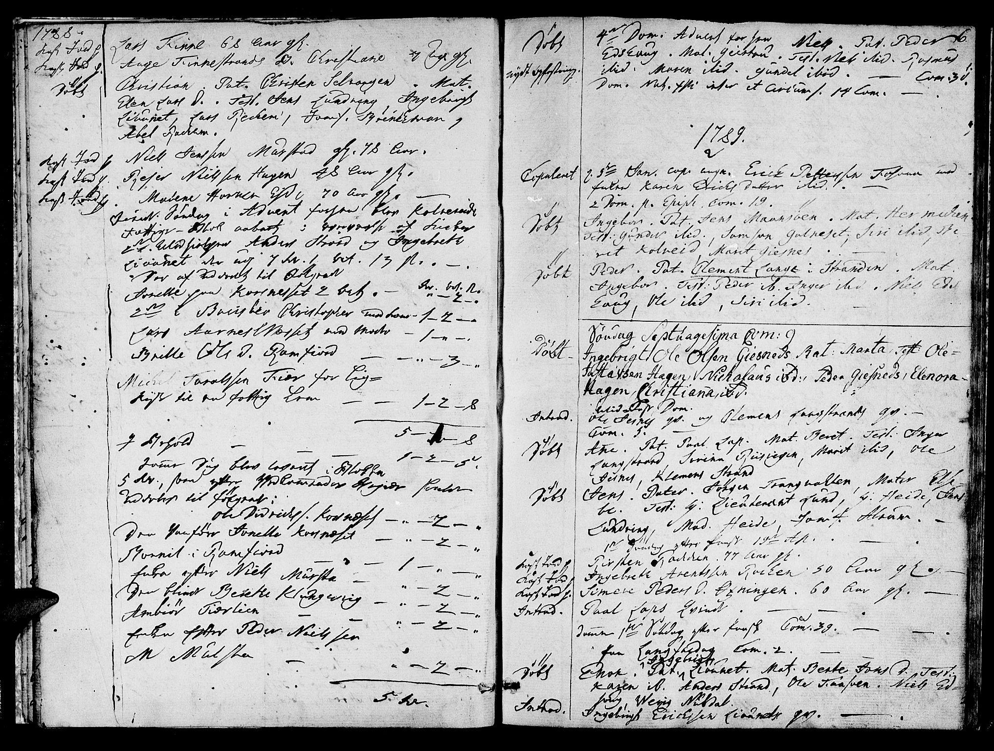 SAT, Ministerialprotokoller, klokkerbøker og fødselsregistre - Nord-Trøndelag, 780/L0633: Ministerialbok nr. 780A02 /1, 1787-1814, s. 6