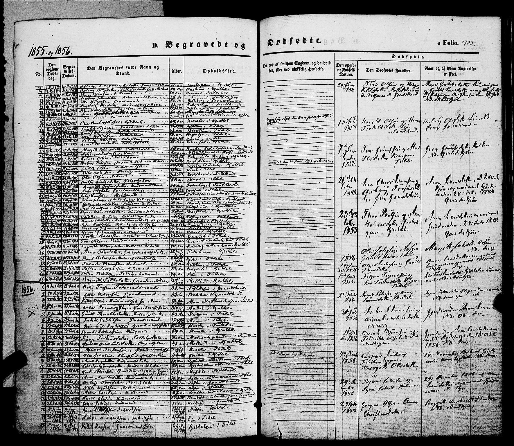 SAKO, Hjartdal kirkebøker, F/Fa/L0008: Ministerialbok nr. I 8, 1844-1859, s. 305