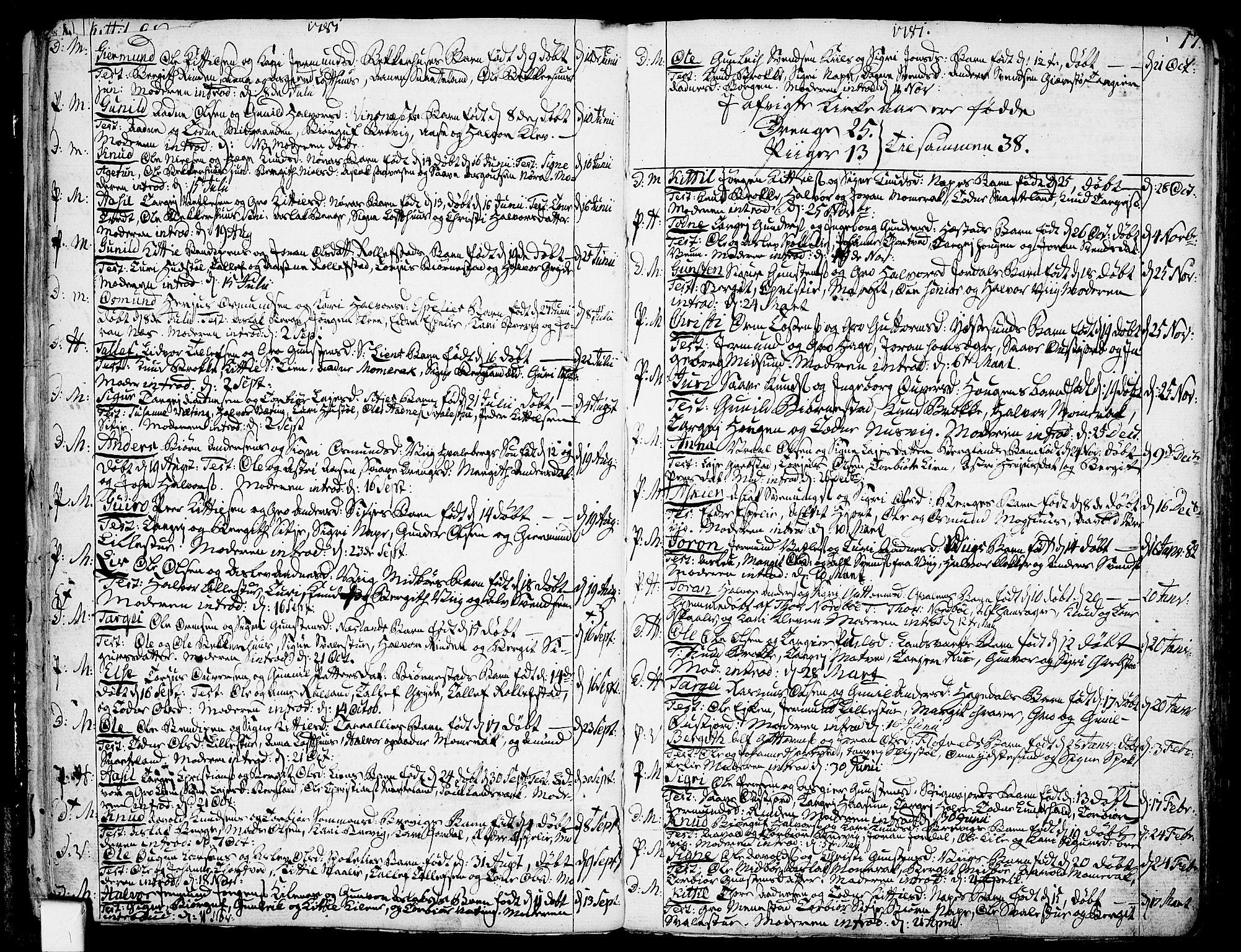 SAKO, Fyresdal kirkebøker, F/Fa/L0002: Ministerialbok nr. I 2, 1769-1814, s. 17