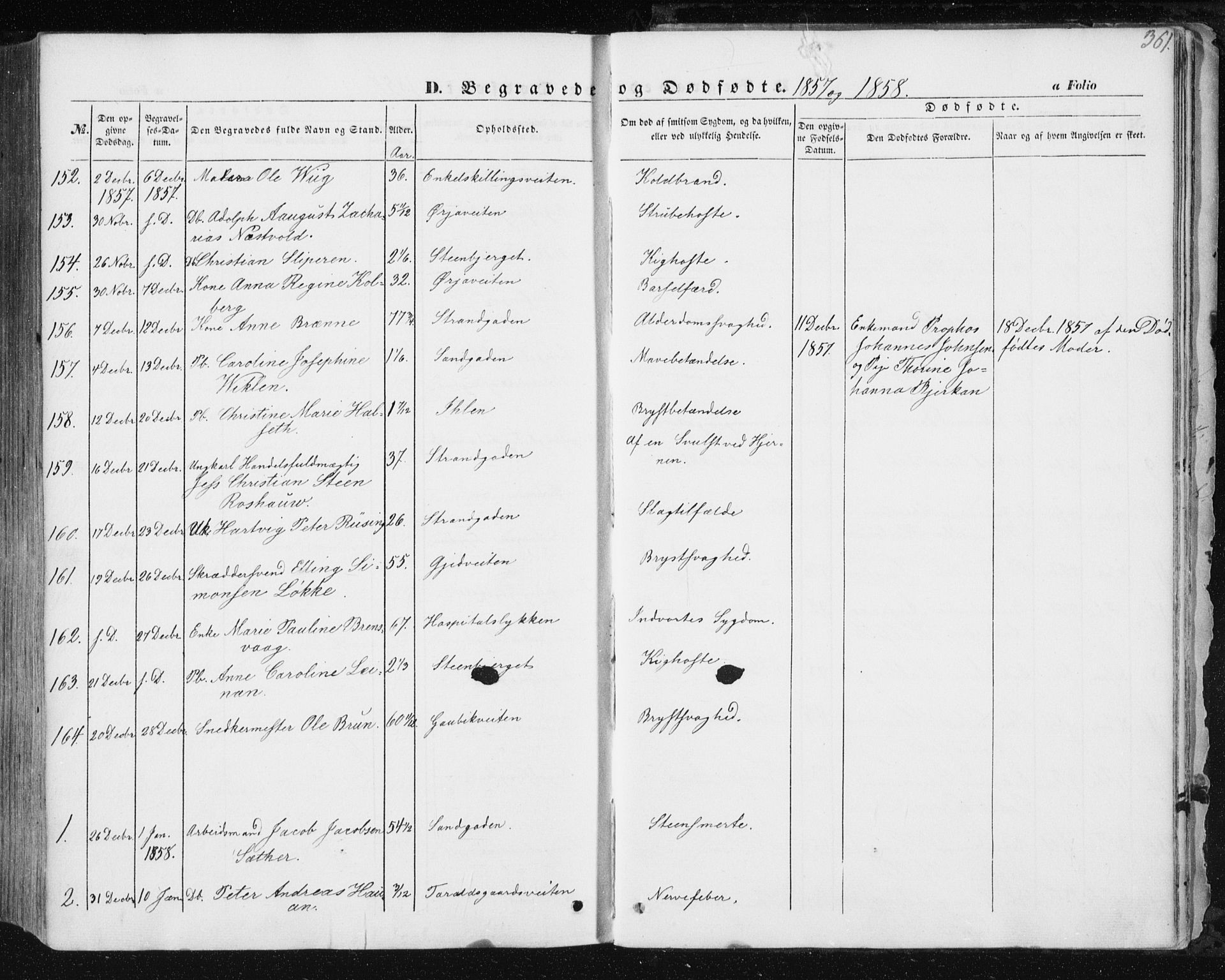 SAT, Ministerialprotokoller, klokkerbøker og fødselsregistre - Sør-Trøndelag, 602/L0112: Ministerialbok nr. 602A10, 1848-1859, s. 361