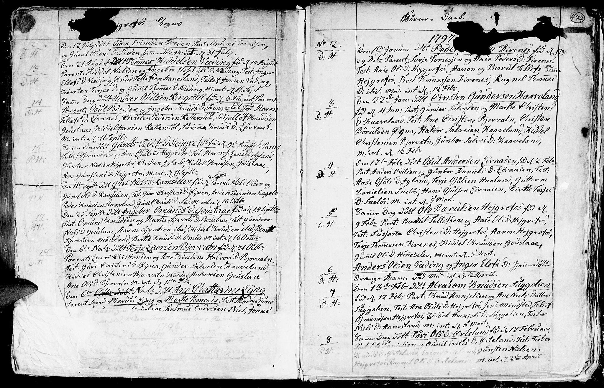 SAK, Hommedal sokneprestkontor, F/Fa/Fab/L0002: Ministerialbok nr. A 2 /3, 1740-1821, s. 474