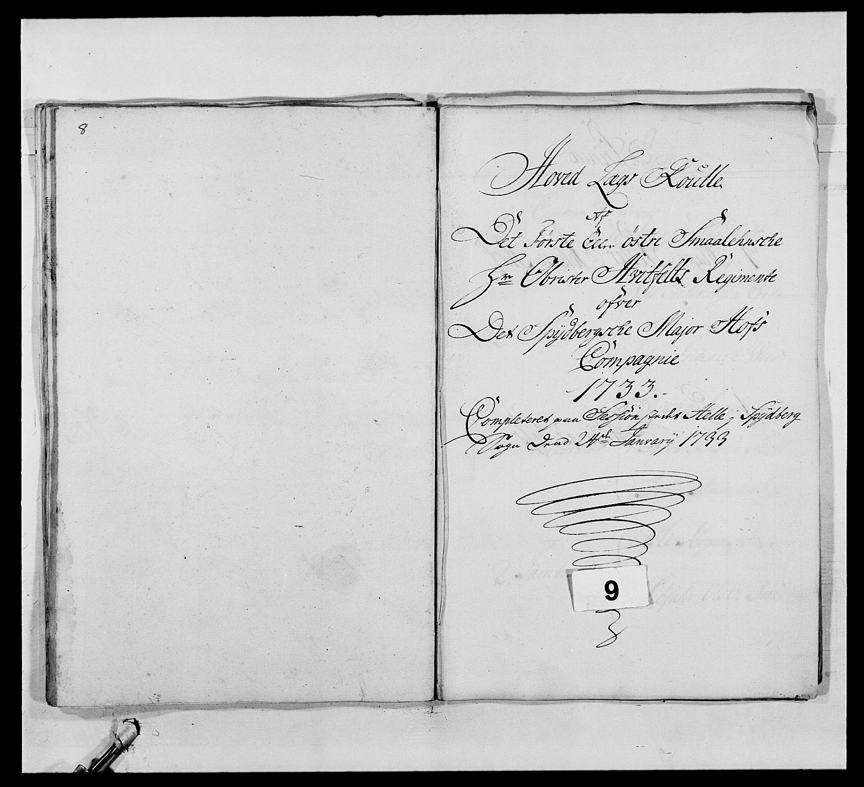 RA, Kommanderende general (KG I) med Det norske krigsdirektorium, E/Ea/L0495: 1. Smålenske regiment, 1732-1763, s. 95