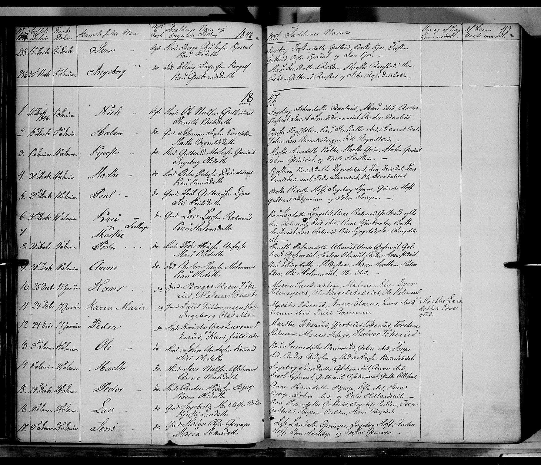 SAH, Gran prestekontor, Ministerialbok nr. 11, 1842-1856, s. 112-113