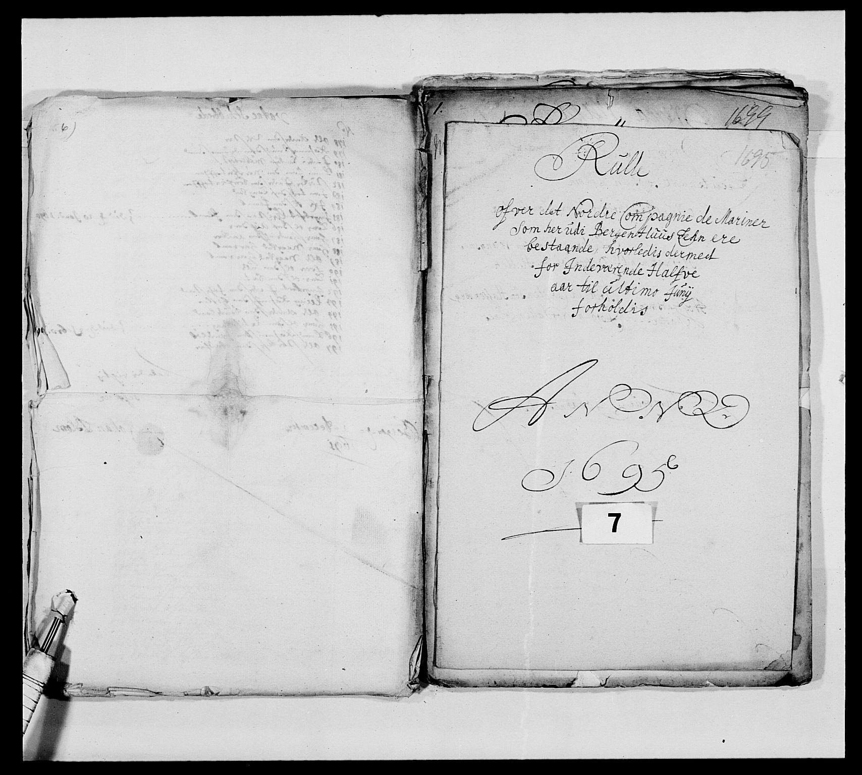 RA, Kommanderende general (KG I) med Det norske krigsdirektorium, E/Ea/L0473: Marineregimentet, 1664-1700, s. 154
