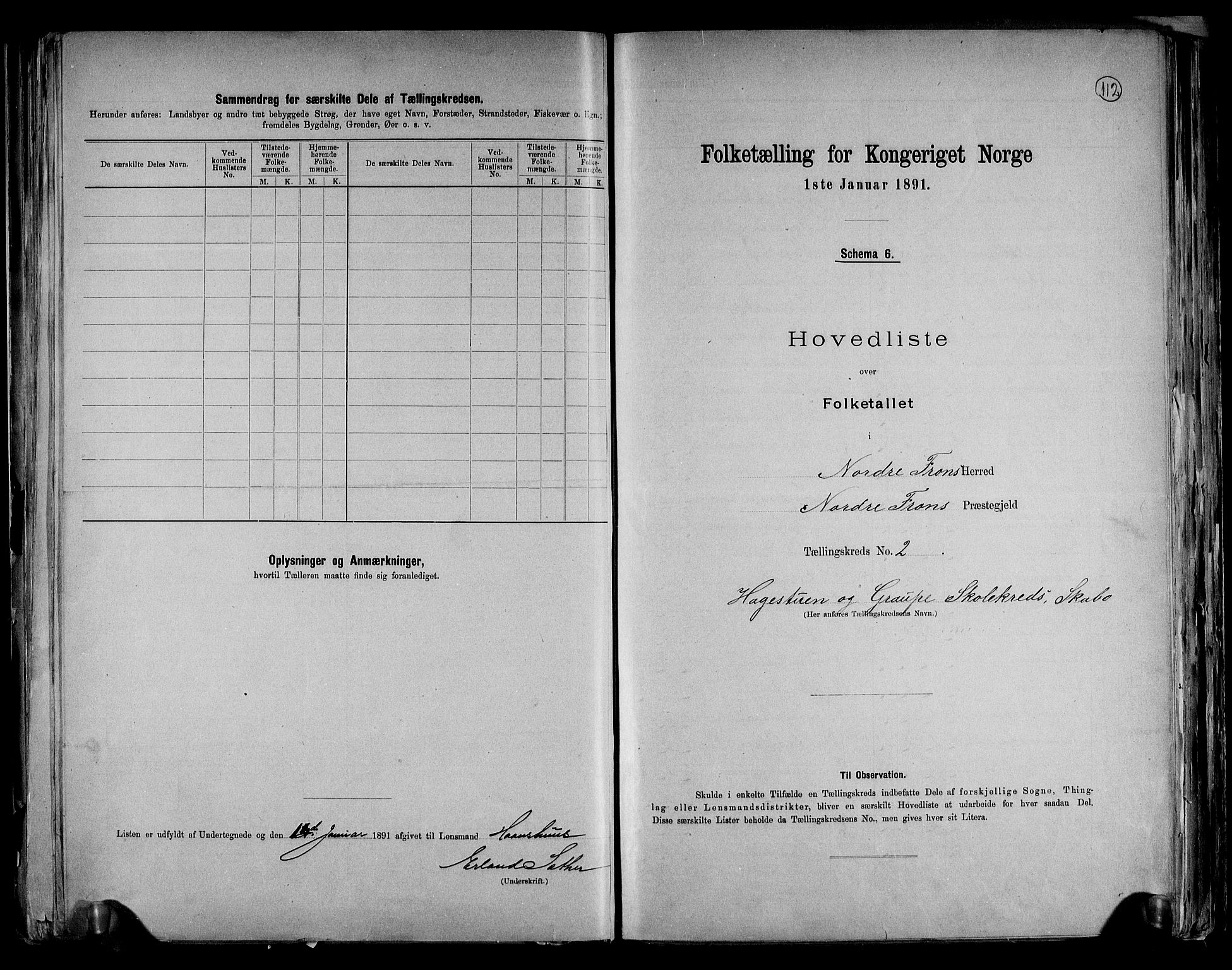 RA, Folketelling 1891 for 0518 Nord-Fron herred, 1891, s. 7
