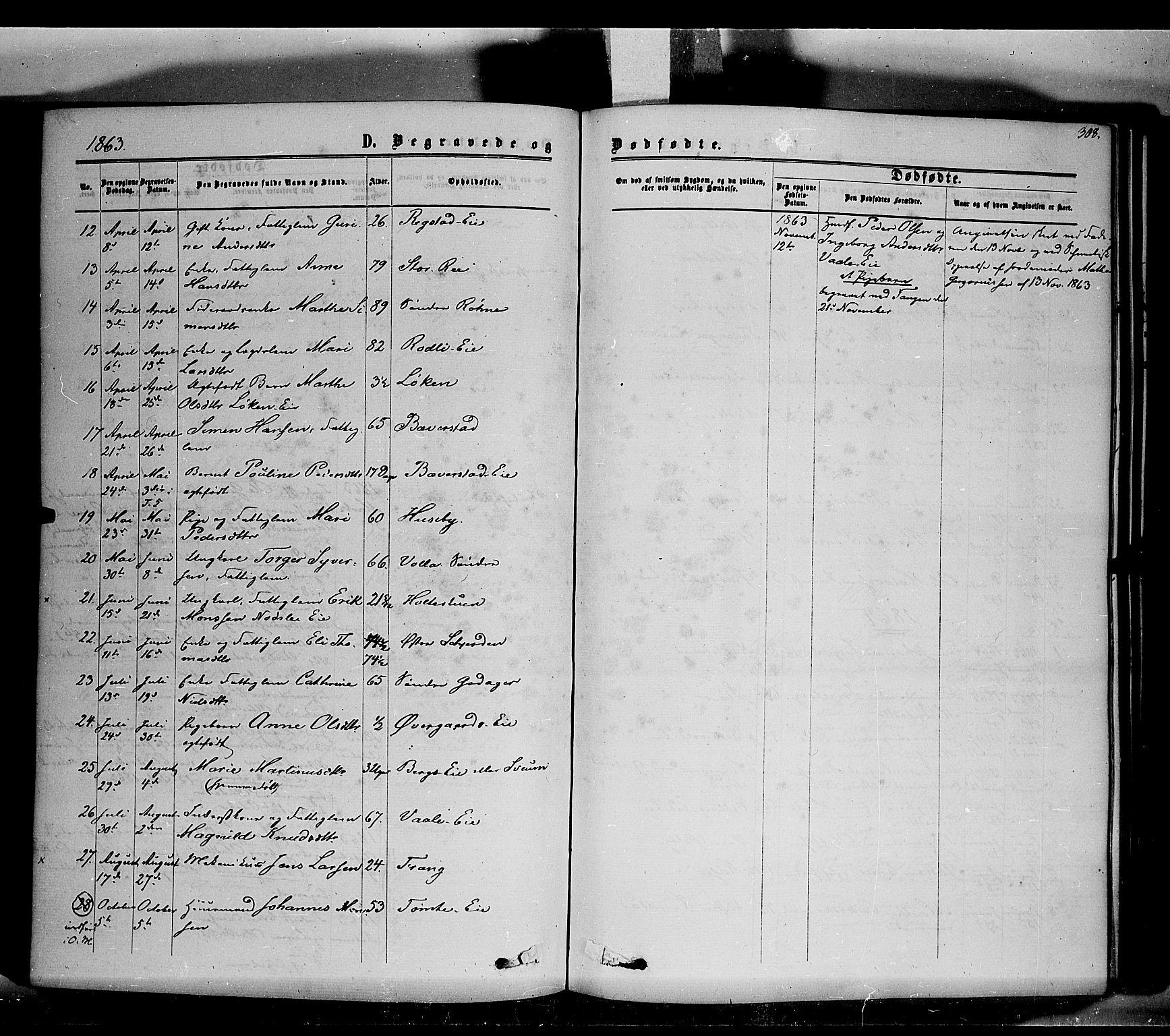 SAH, Stange prestekontor, K/L0013: Ministerialbok nr. 13, 1862-1879, s. 308