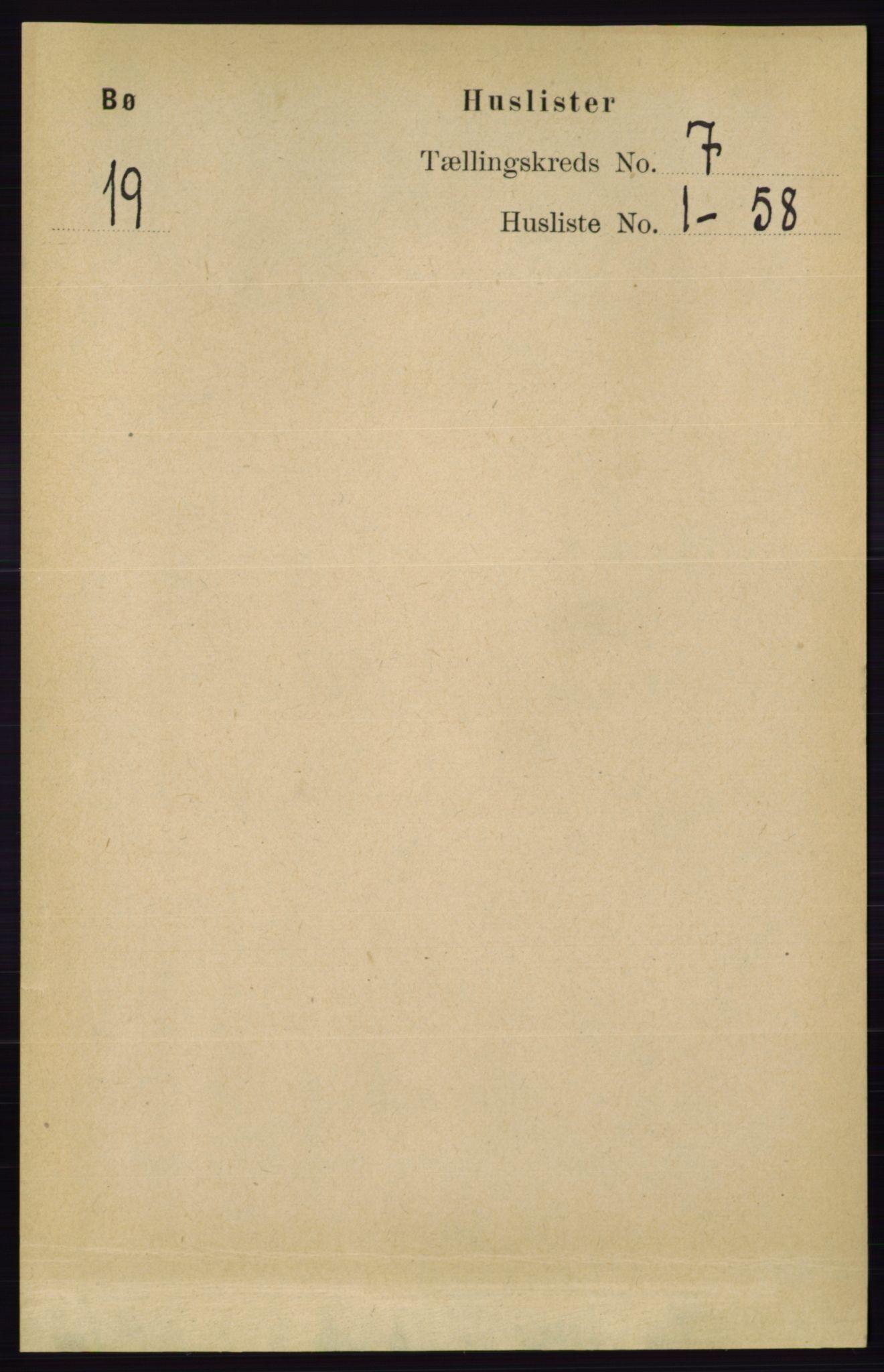 RA, Folketelling 1891 for 0821 Bø herred, 1891, s. 2142