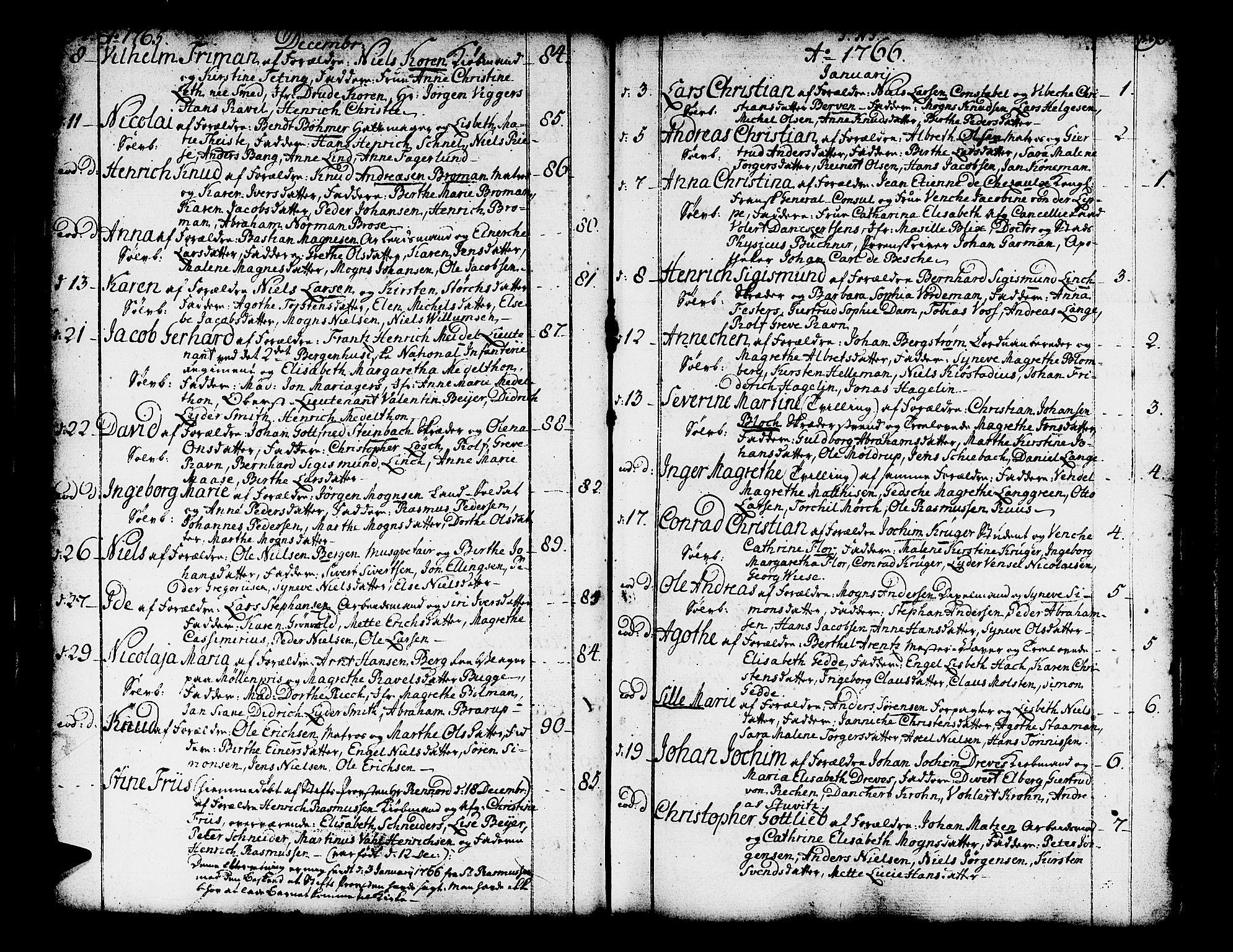 SAB, Domkirken sokneprestembete, H/Haa/L0003: Ministerialbok nr. A 3, 1758-1789, s. 94-95