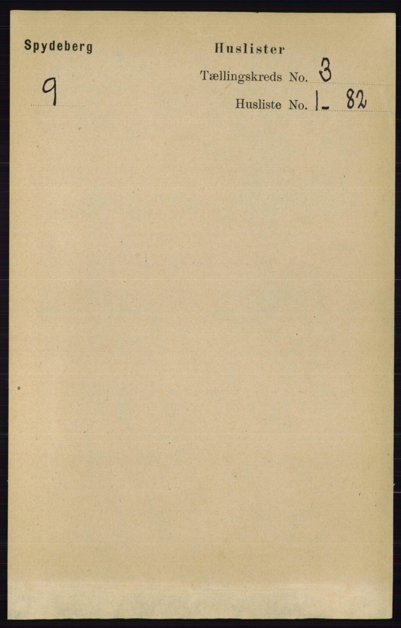 RA, Folketelling 1891 for 0123 Spydeberg herred, 1891, s. 1142