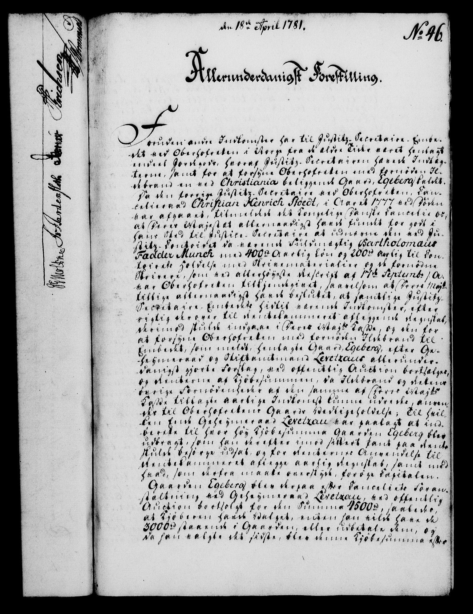 RA, Rentekammeret, Kammerkanselliet, G/Gf/Gfa/L0063: Norsk relasjons- og resolusjonsprotokoll (merket RK 52.63), 1781, s. 594