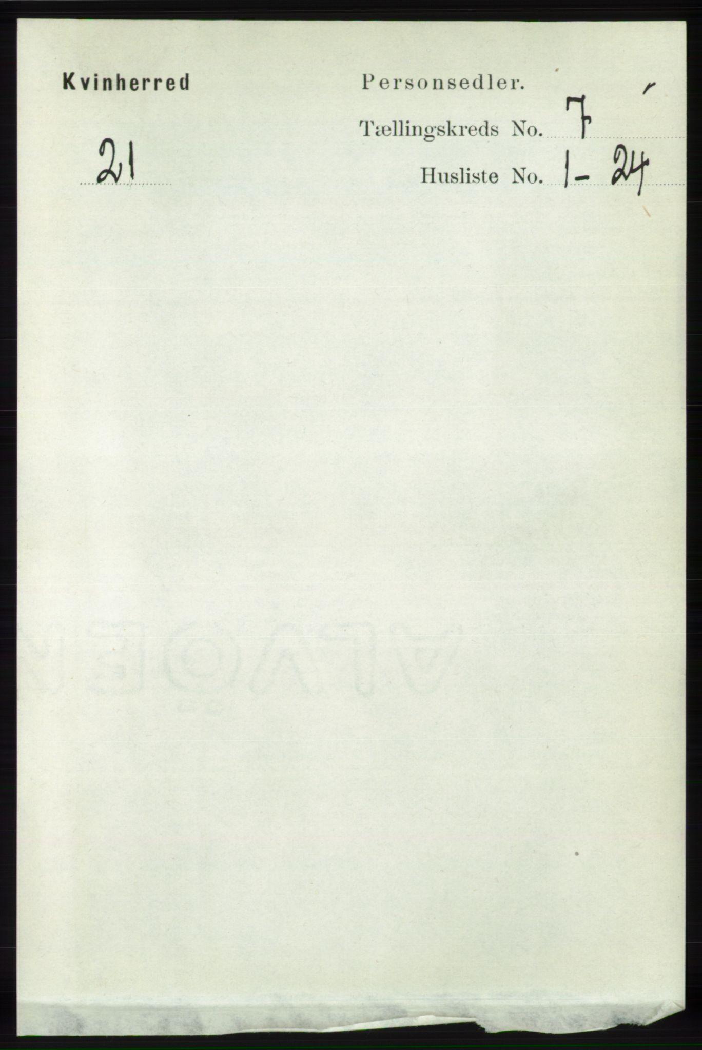 RA, Folketelling 1891 for 1224 Kvinnherad herred, 1891, s. 2448