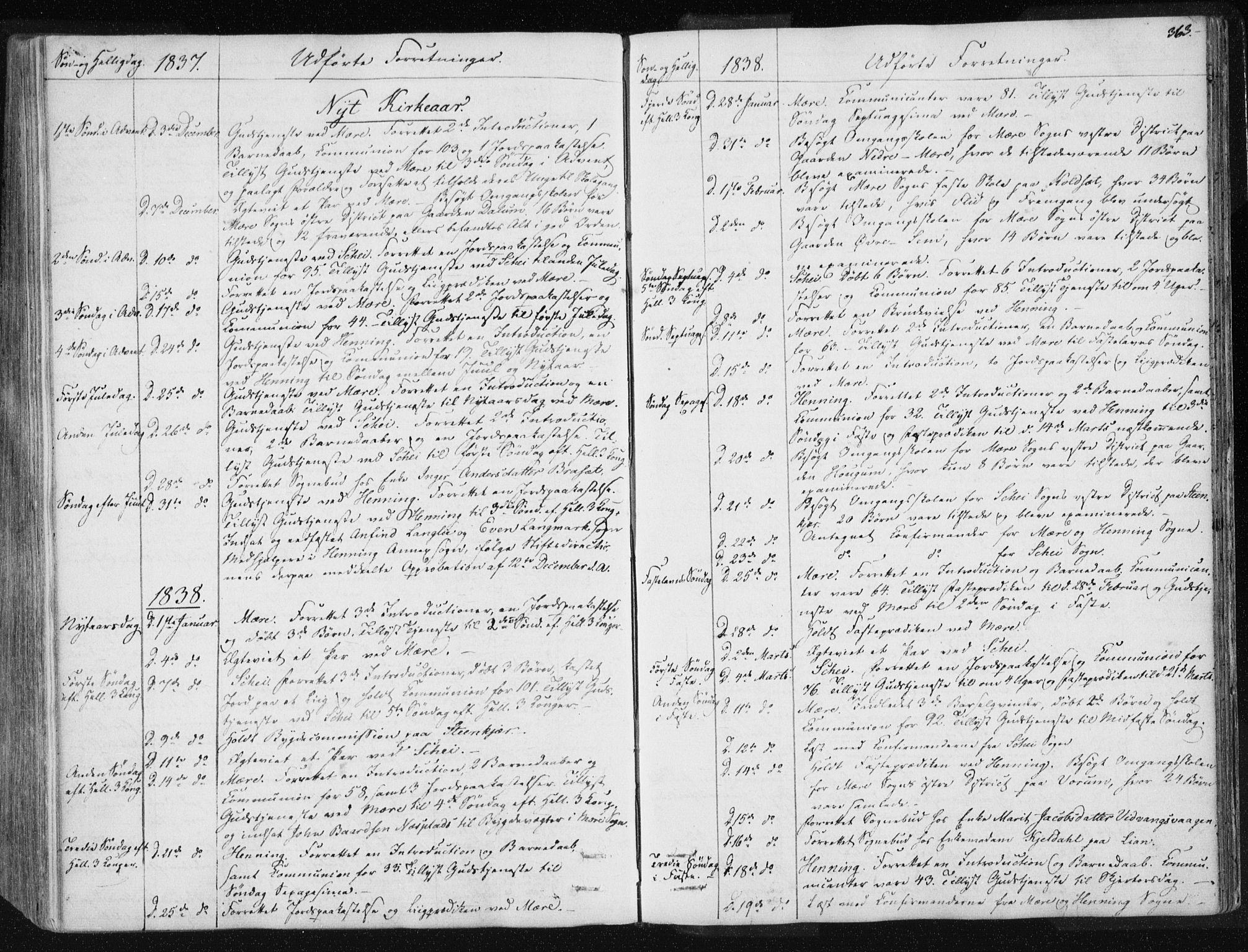 SAT, Ministerialprotokoller, klokkerbøker og fødselsregistre - Nord-Trøndelag, 735/L0339: Ministerialbok nr. 735A06 /1, 1836-1848, s. 363