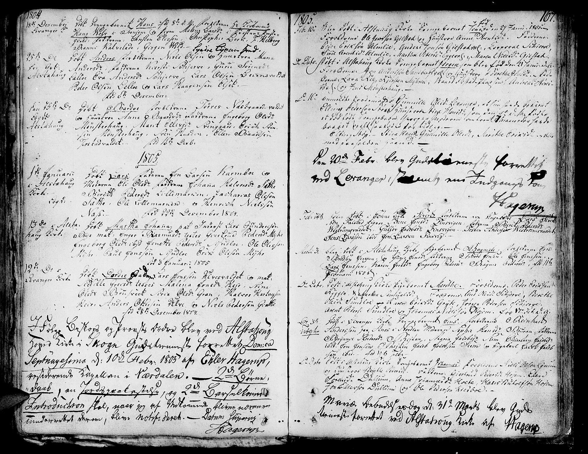 SAT, Ministerialprotokoller, klokkerbøker og fødselsregistre - Nord-Trøndelag, 717/L0142: Ministerialbok nr. 717A02 /1, 1783-1809, s. 167