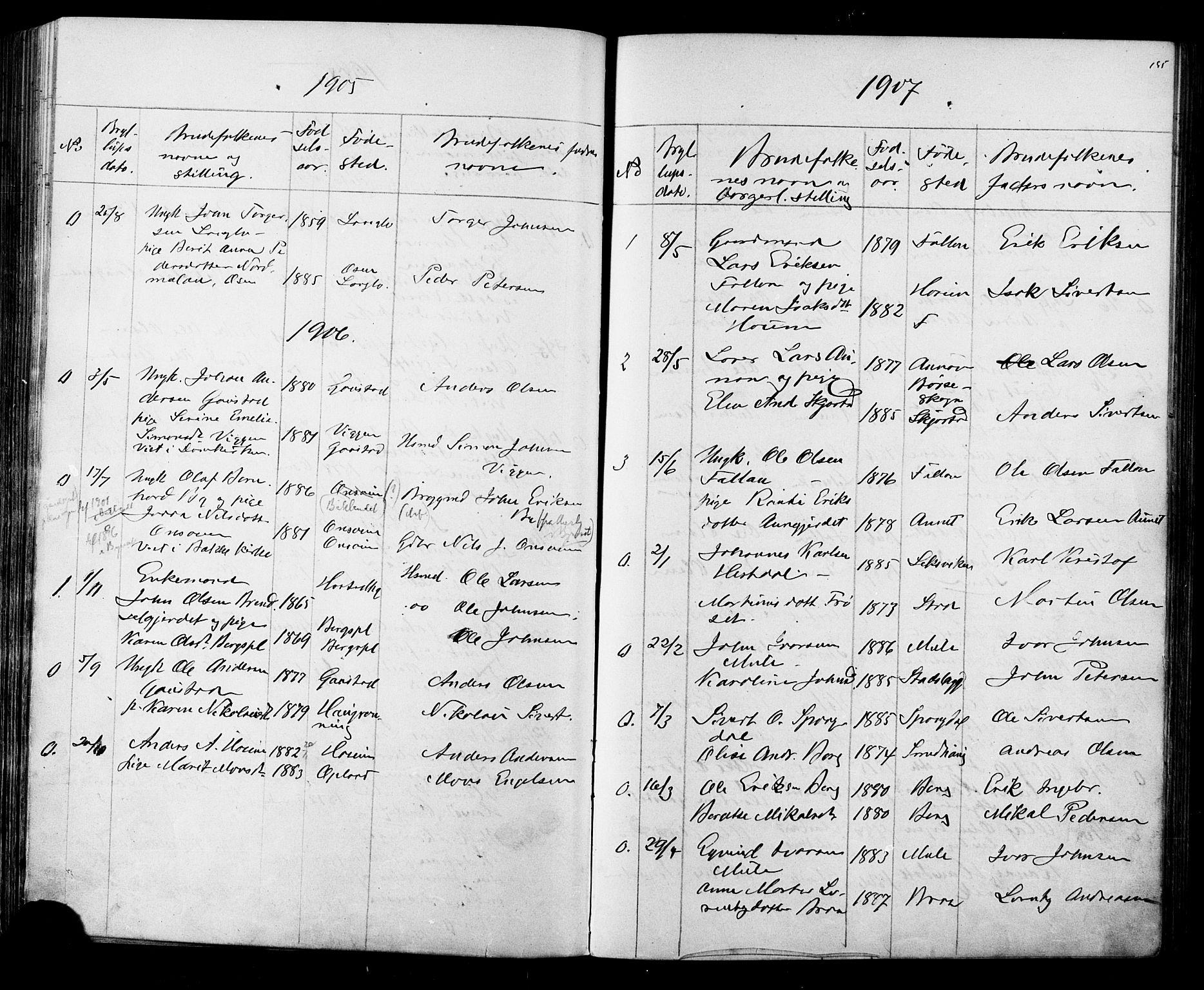 SAT, Ministerialprotokoller, klokkerbøker og fødselsregistre - Sør-Trøndelag, 612/L0387: Klokkerbok nr. 612C03, 1874-1908, s. 195