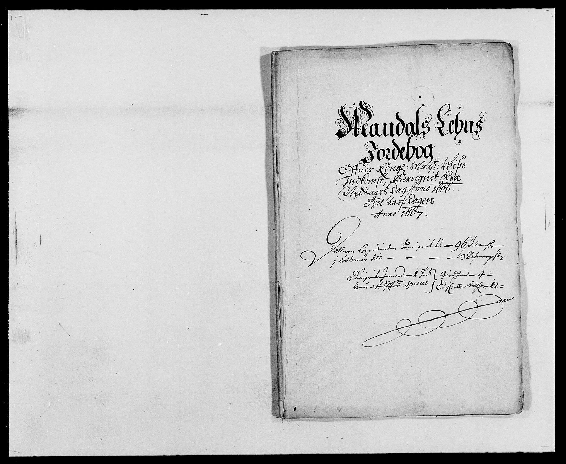 RA, Rentekammeret inntil 1814, Reviderte regnskaper, Fogderegnskap, R42/L2537: Mandal fogderi, 1664-1666, s. 275