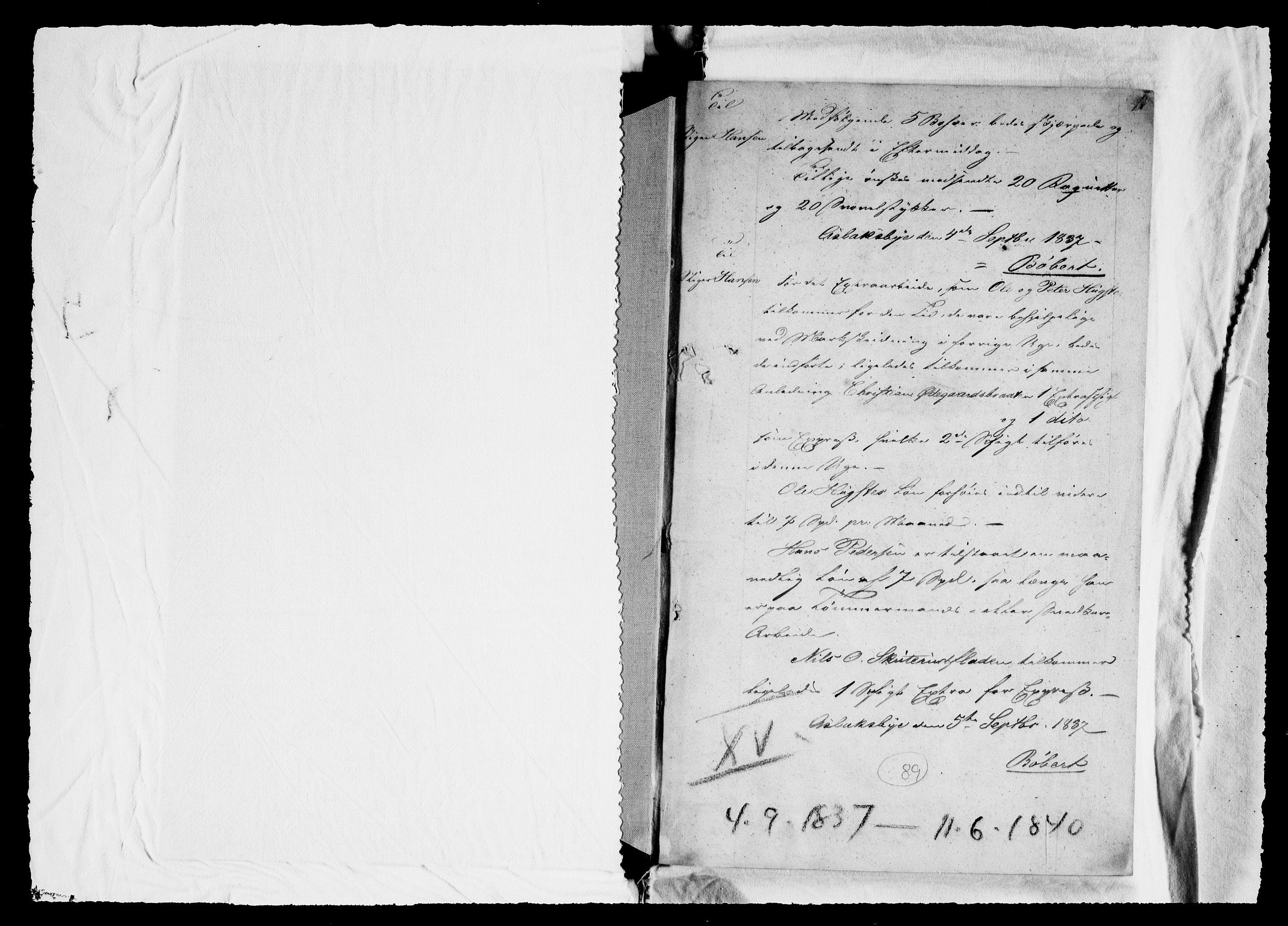 RA, Modums Blaafarveværk, G/Gb/L0089, 1837-1840, s. 2