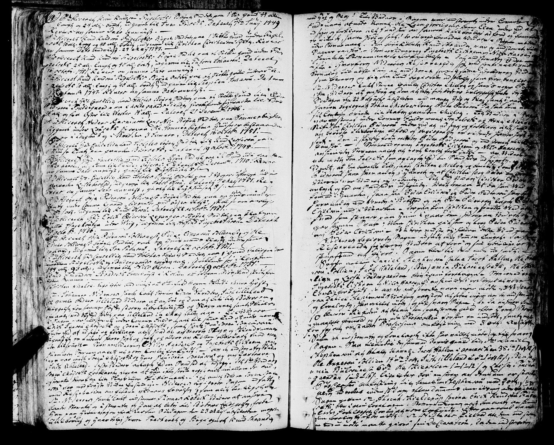 SAT, Romsdal sorenskriveri, 1/1A/L0013: Tingbok, 1749-1757, s. 144-145