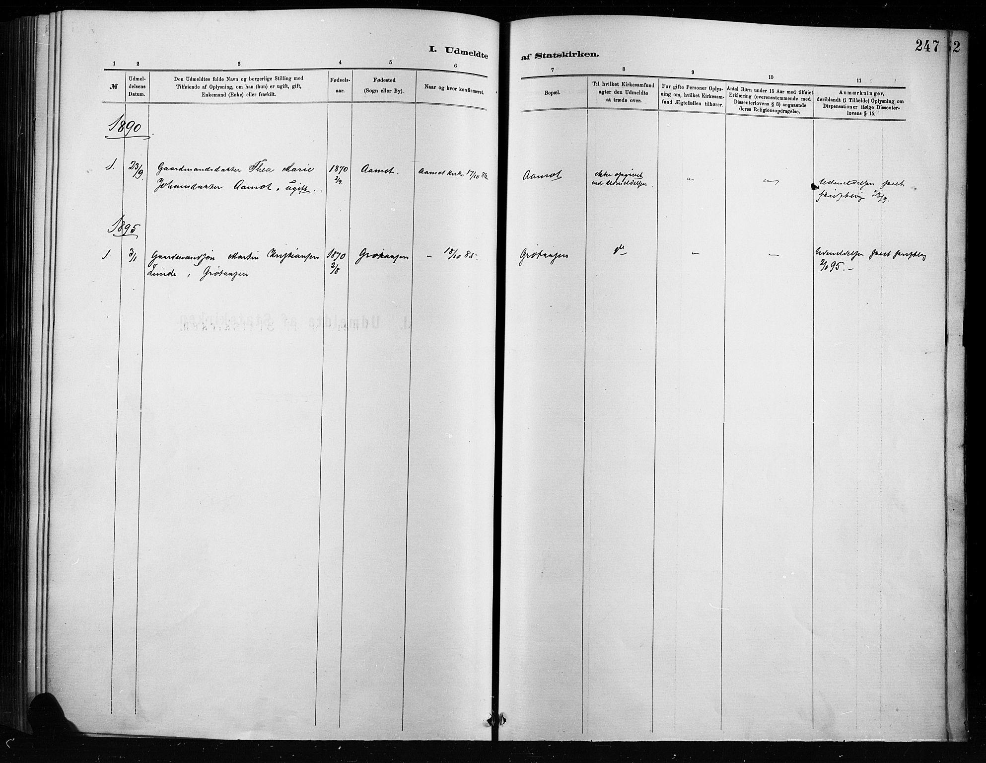 SAH, Nordre Land prestekontor, Ministerialbok nr. 4, 1882-1896, s. 247