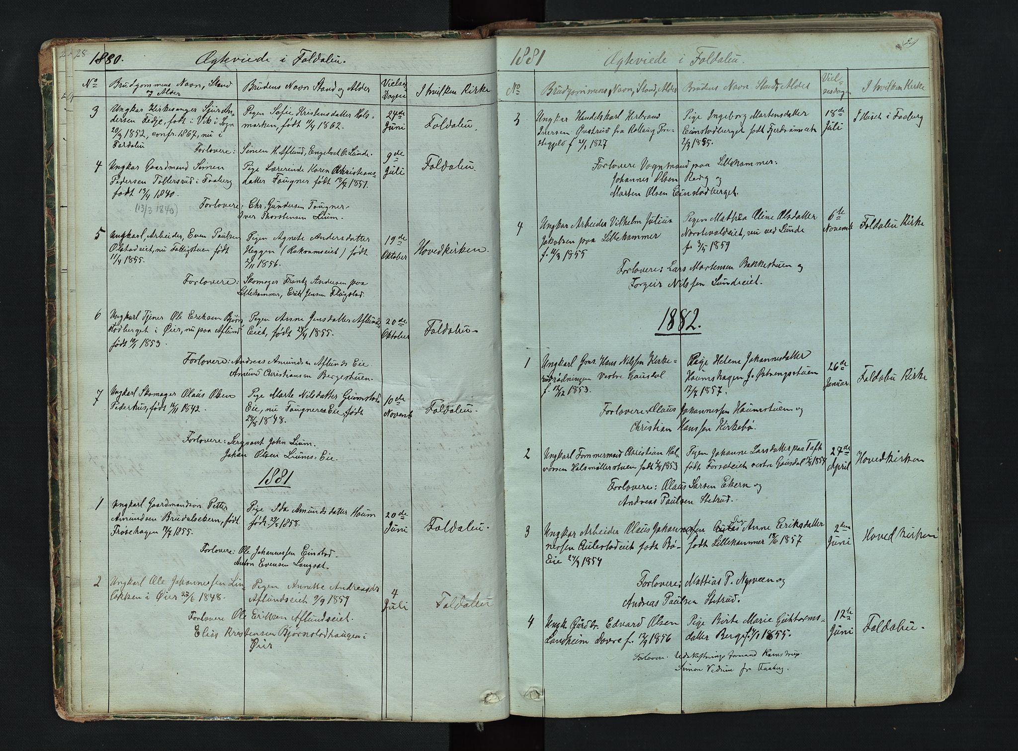 SAH, Gausdal prestekontor, Klokkerbok nr. 6, 1846-1893, s. 28-29