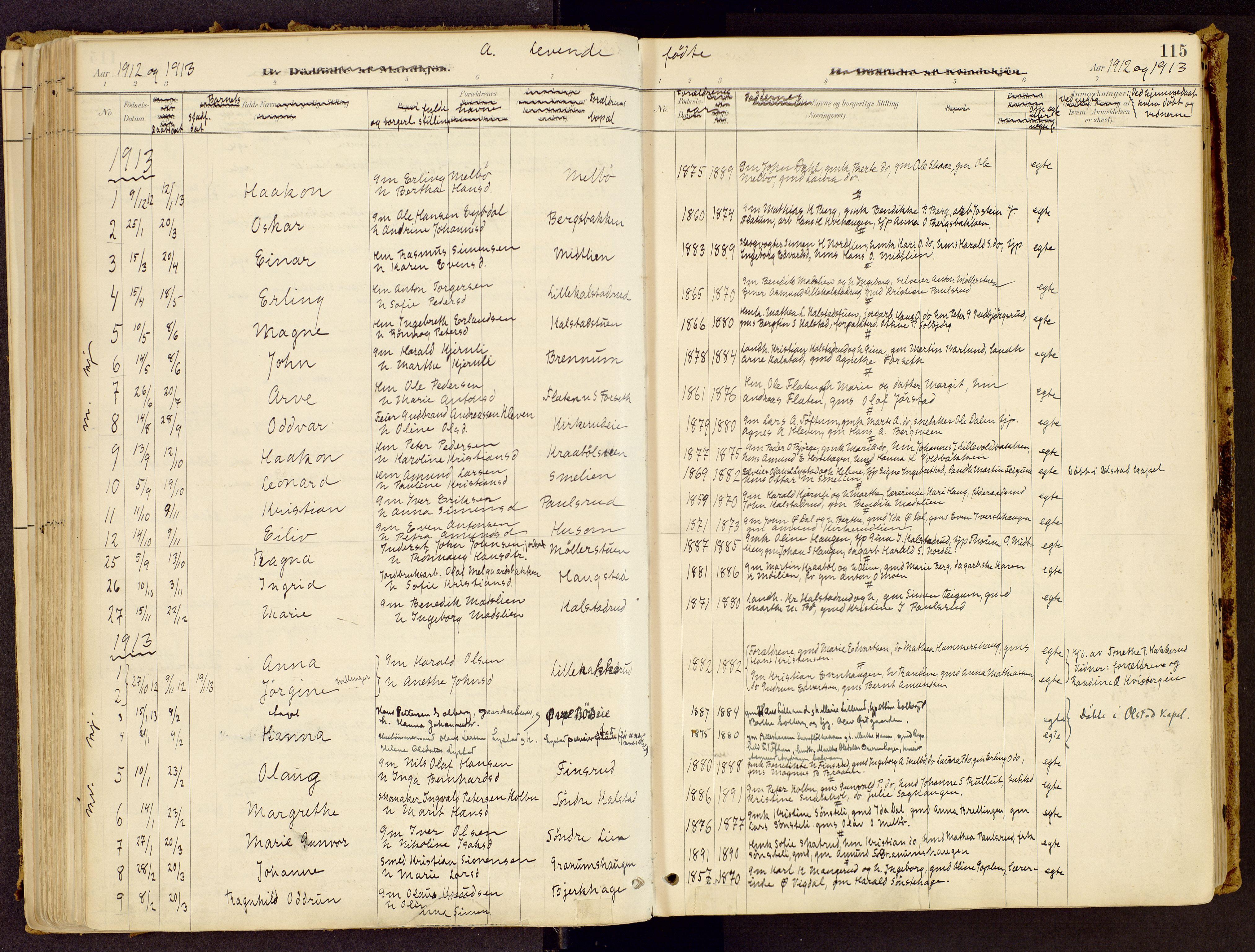SAH, Vestre Gausdal prestekontor, Ministerialbok nr. 1, 1887-1914, s. 115