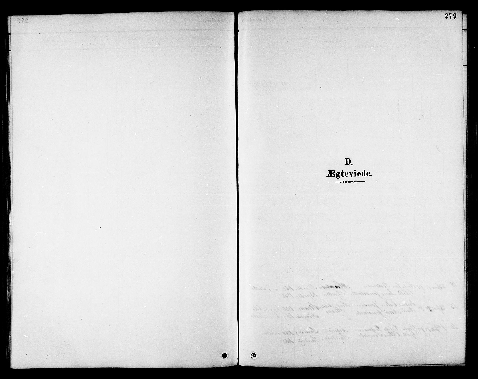SAT, Ministerialprotokoller, klokkerbøker og fødselsregistre - Sør-Trøndelag, 695/L1157: Klokkerbok nr. 695C08, 1889-1913, s. 279