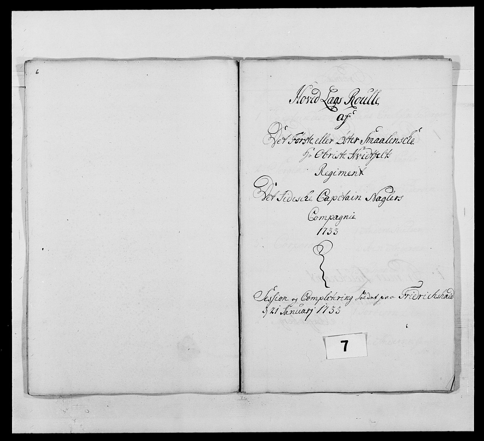 RA, Kommanderende general (KG I) med Det norske krigsdirektorium, E/Ea/L0495: 1. Smålenske regiment, 1732-1763, s. 73