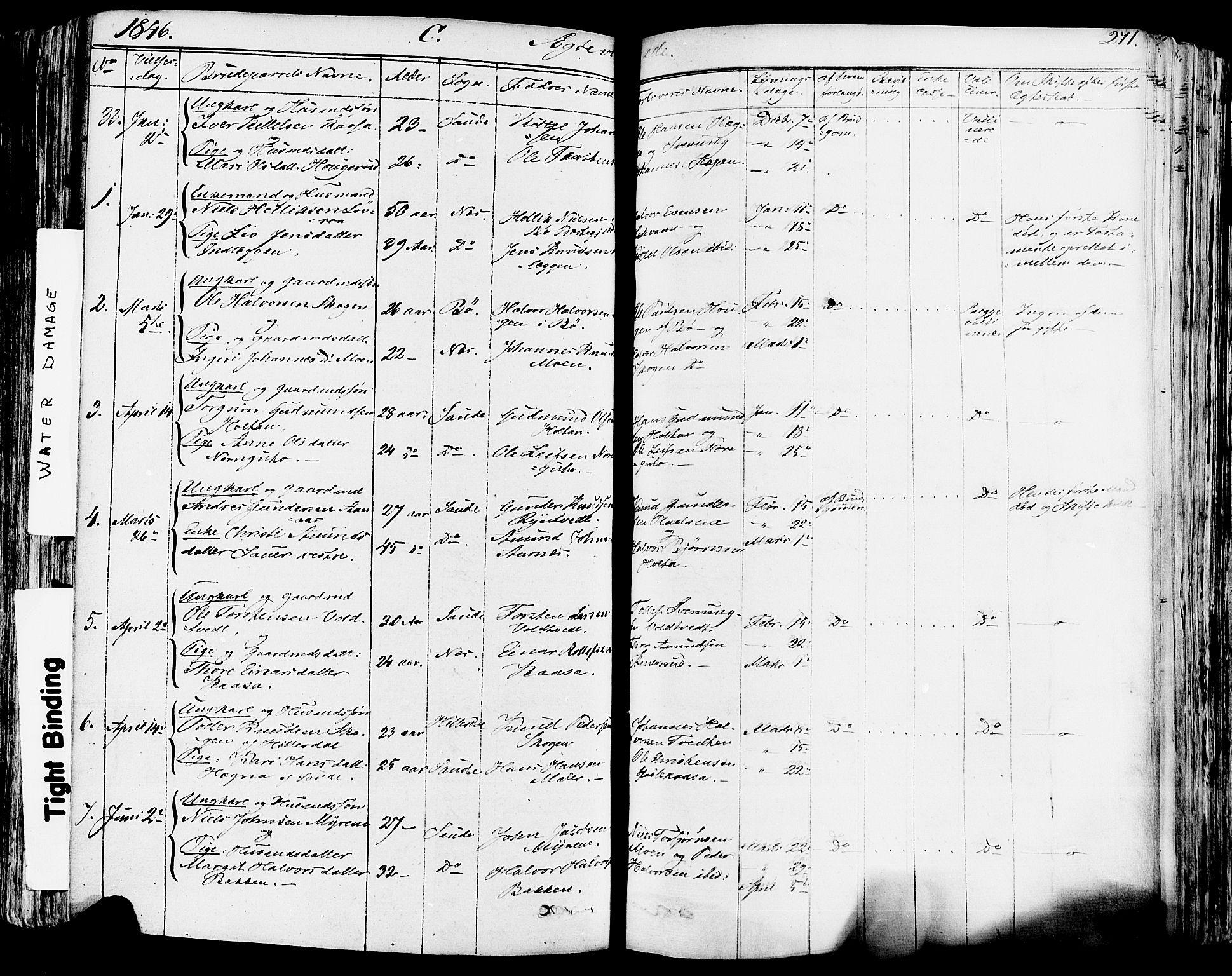 SAKO, Sauherad kirkebøker, F/Fa/L0006: Ministerialbok nr. I 6, 1827-1850, s. 271