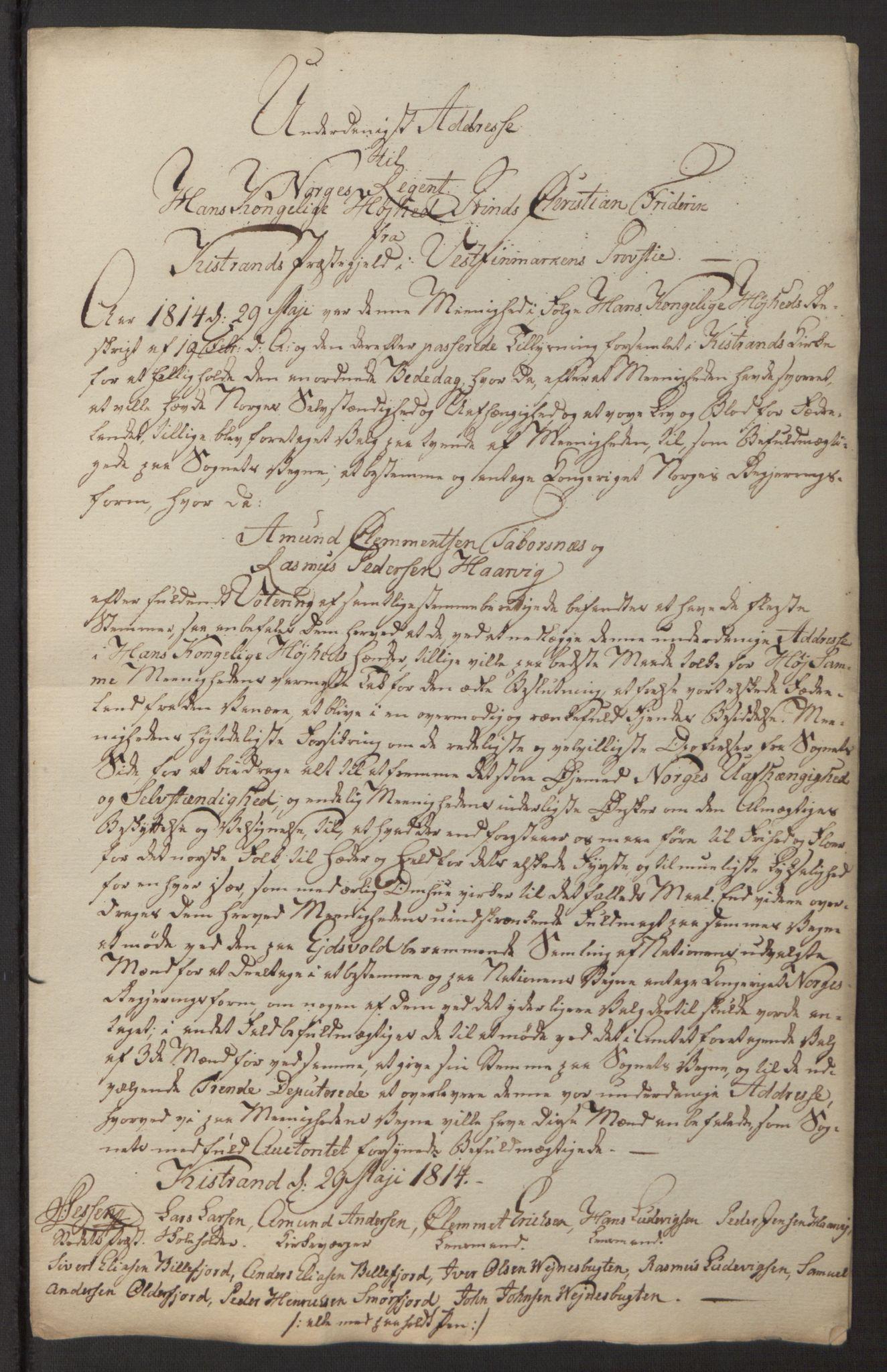 SATØ, Amtmannen/Fylkesmannen i Finnmark*, 1814, s. 20