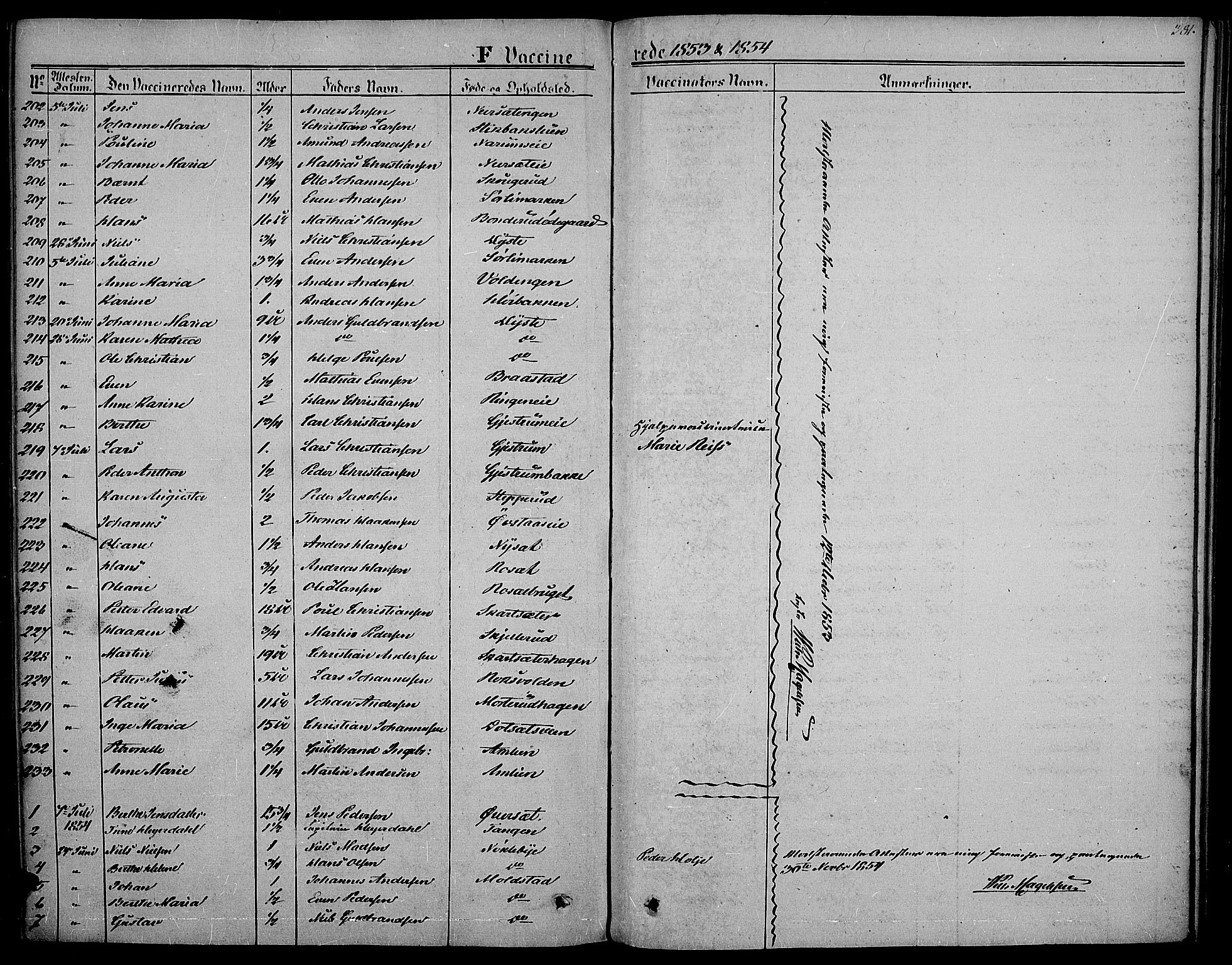 SAH, Vestre Toten prestekontor, H/Ha/Haa/L0005: Ministerialbok nr. 5, 1850-1855, s. 381