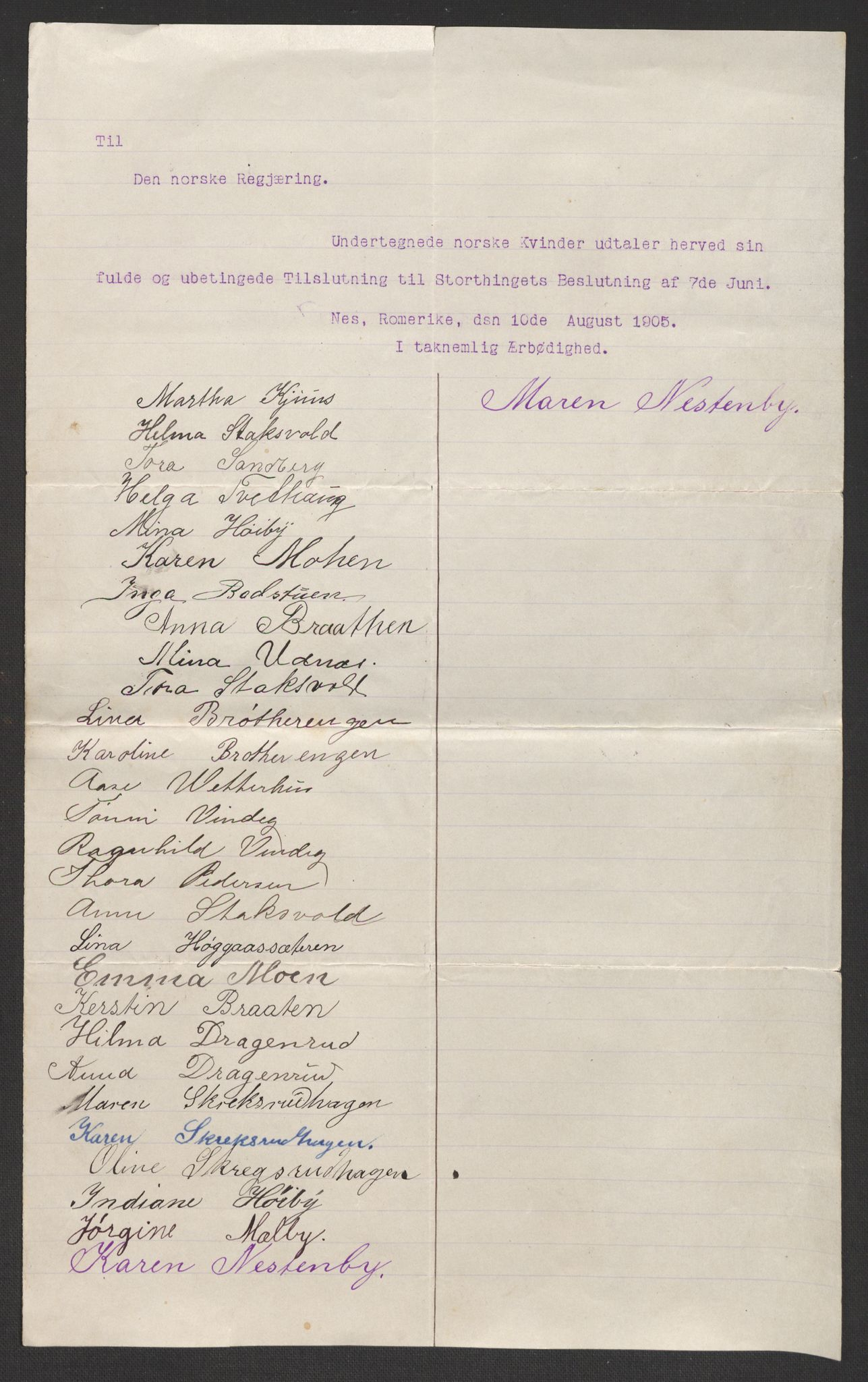 RA, Justisdepartementet, 2. sivilkontor C, F/L0125B: Folkeavstemmingen august 1905, 1905, s. 33