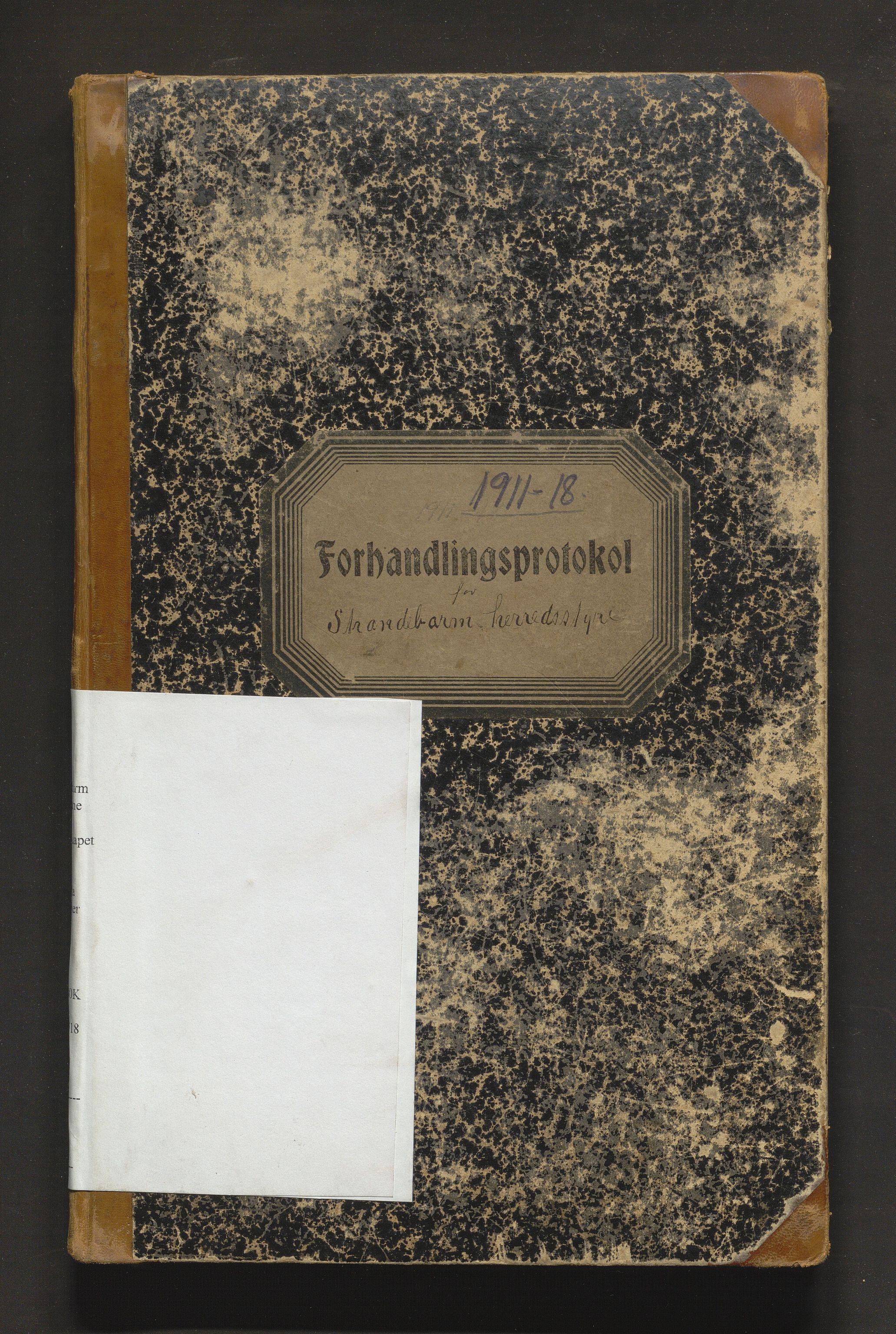 IKAH, Strandebarm kommune. Formannskapet, A/Aa/L0007: Møtebok for formannskap og heradsstyre, 1911-1918