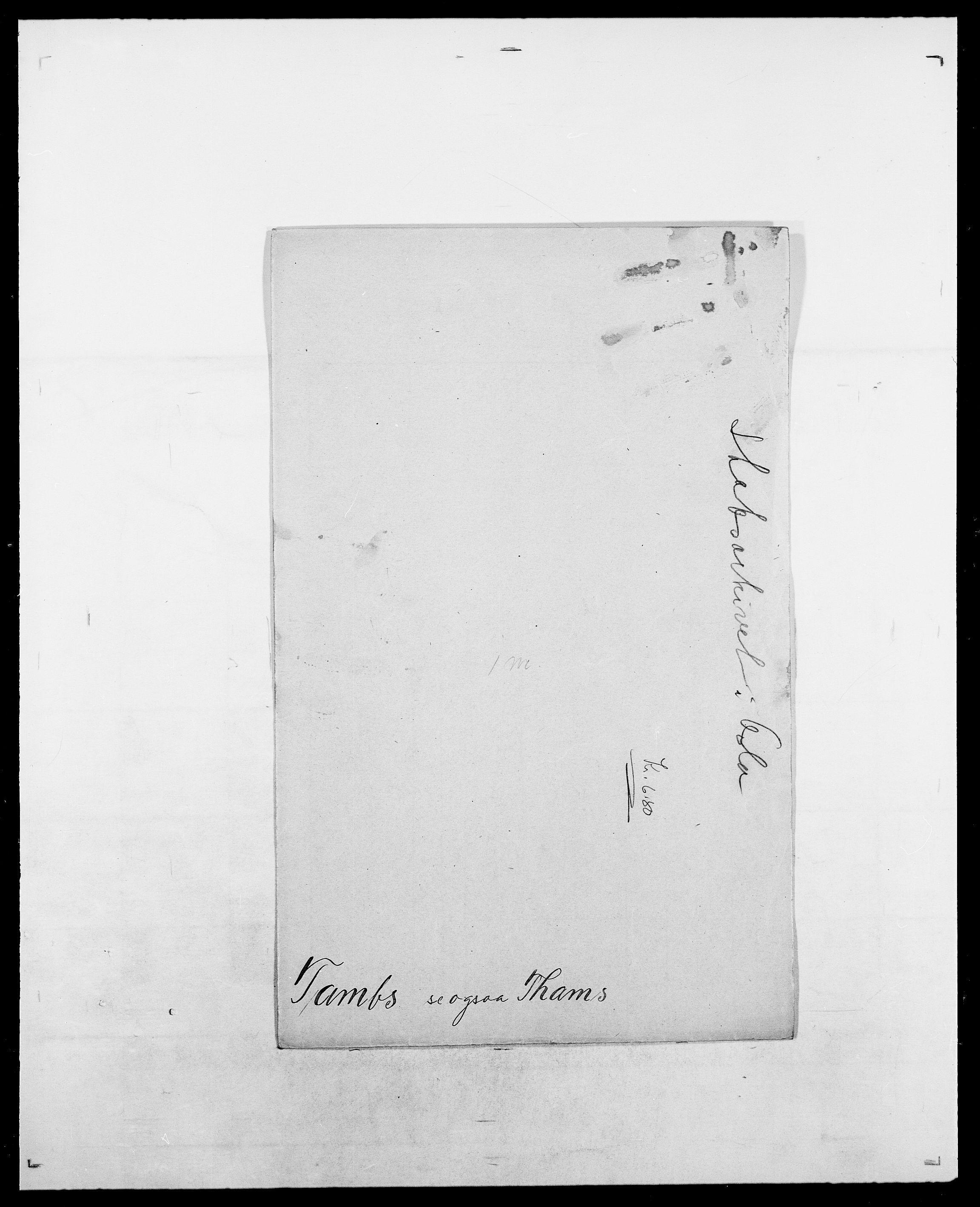 SAO, Delgobe, Charles Antoine - samling, D/Da/L0038: Svanenskjold - Thornsohn, s. 277