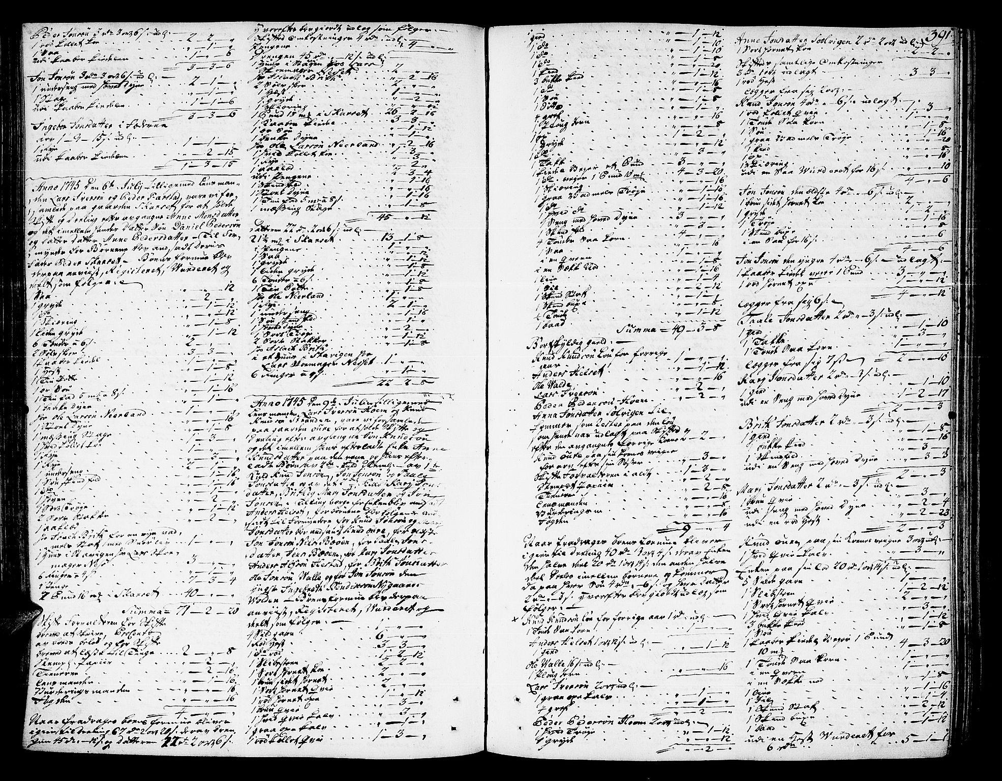 SAT, Romsdal sorenskriveri, 3/3A/L0007: Skifteprotokoll, 1740-1751, s. 390b-391a