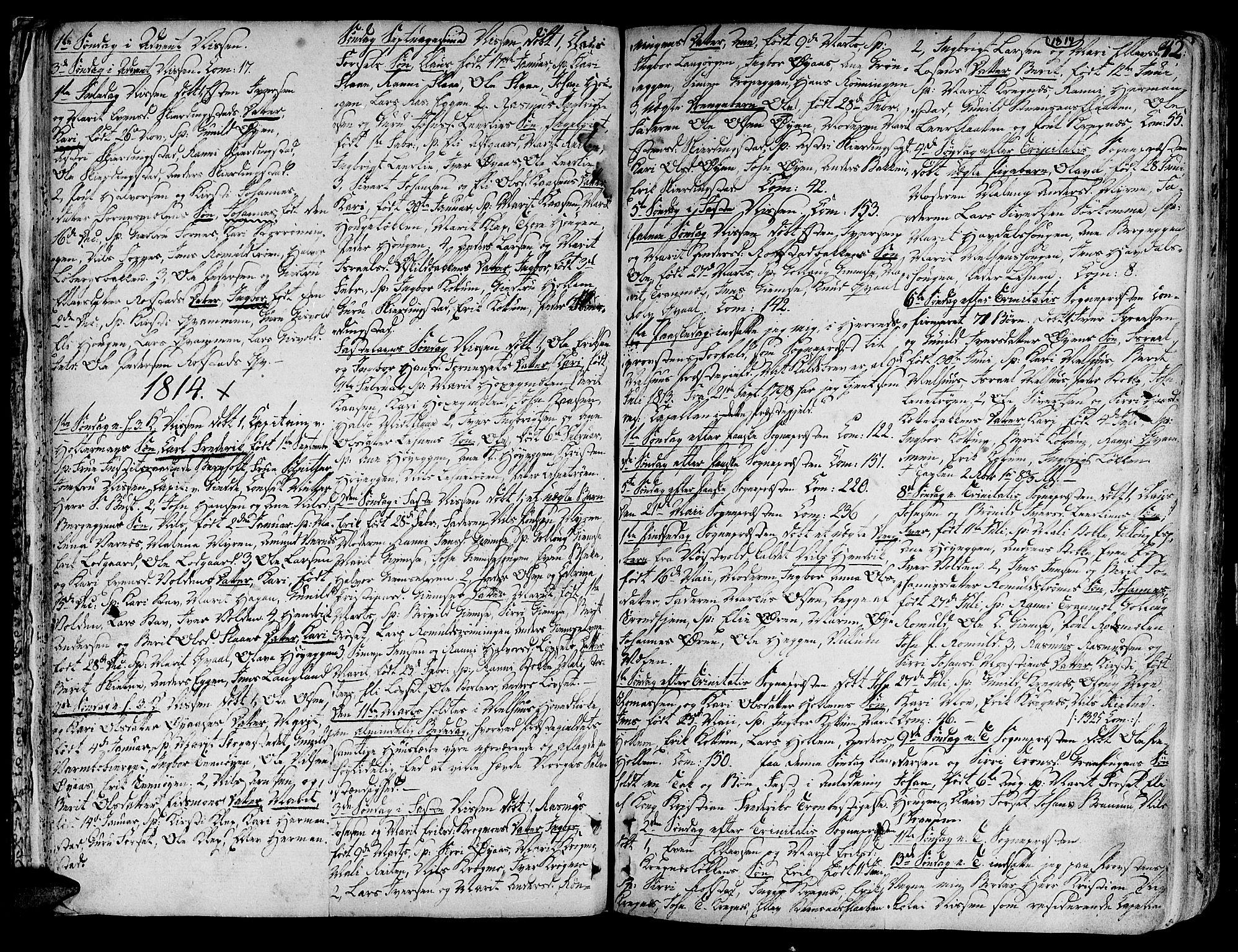 SAT, Ministerialprotokoller, klokkerbøker og fødselsregistre - Sør-Trøndelag, 691/L1061: Ministerialbok nr. 691A02 /1, 1768-1815, s. 42