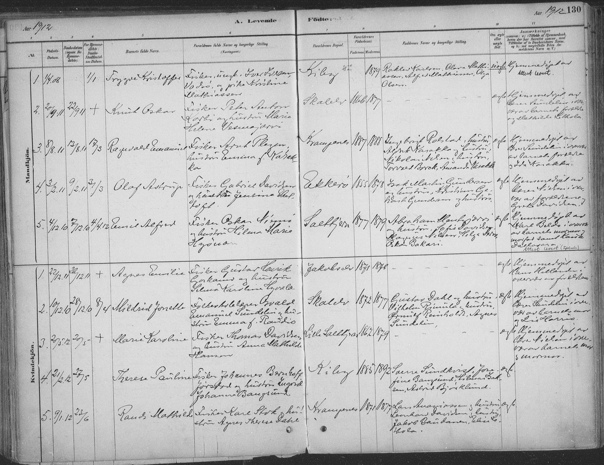 SATØ, Vadsø sokneprestkontor, H/Ha/L0009kirke: Ministerialbok nr. 9, 1881-1917, s. 130