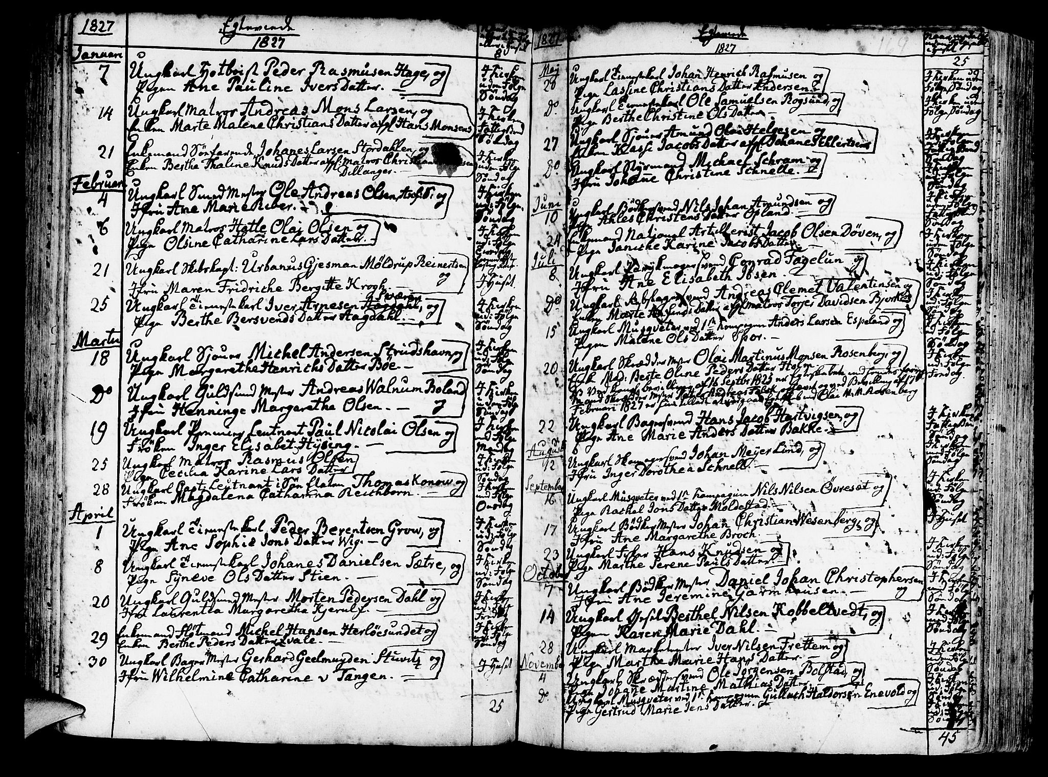 SAB, Korskirken Sokneprestembete, H/Haa/L0009: Ministerialbok nr. A 9, 1743-1861, s. 164