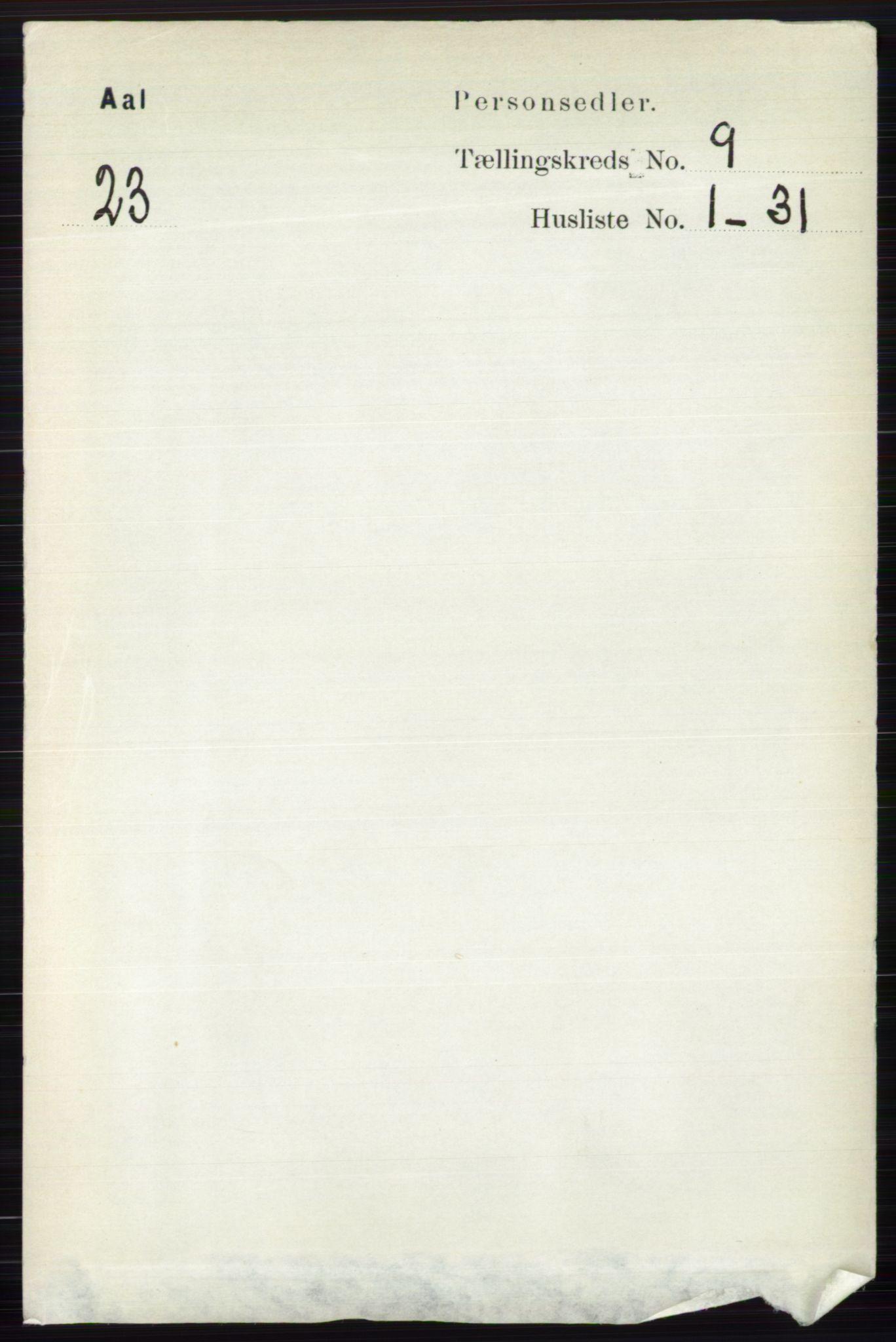 RA, Folketelling 1891 for 0619 Ål herred, 1891, s. 2479
