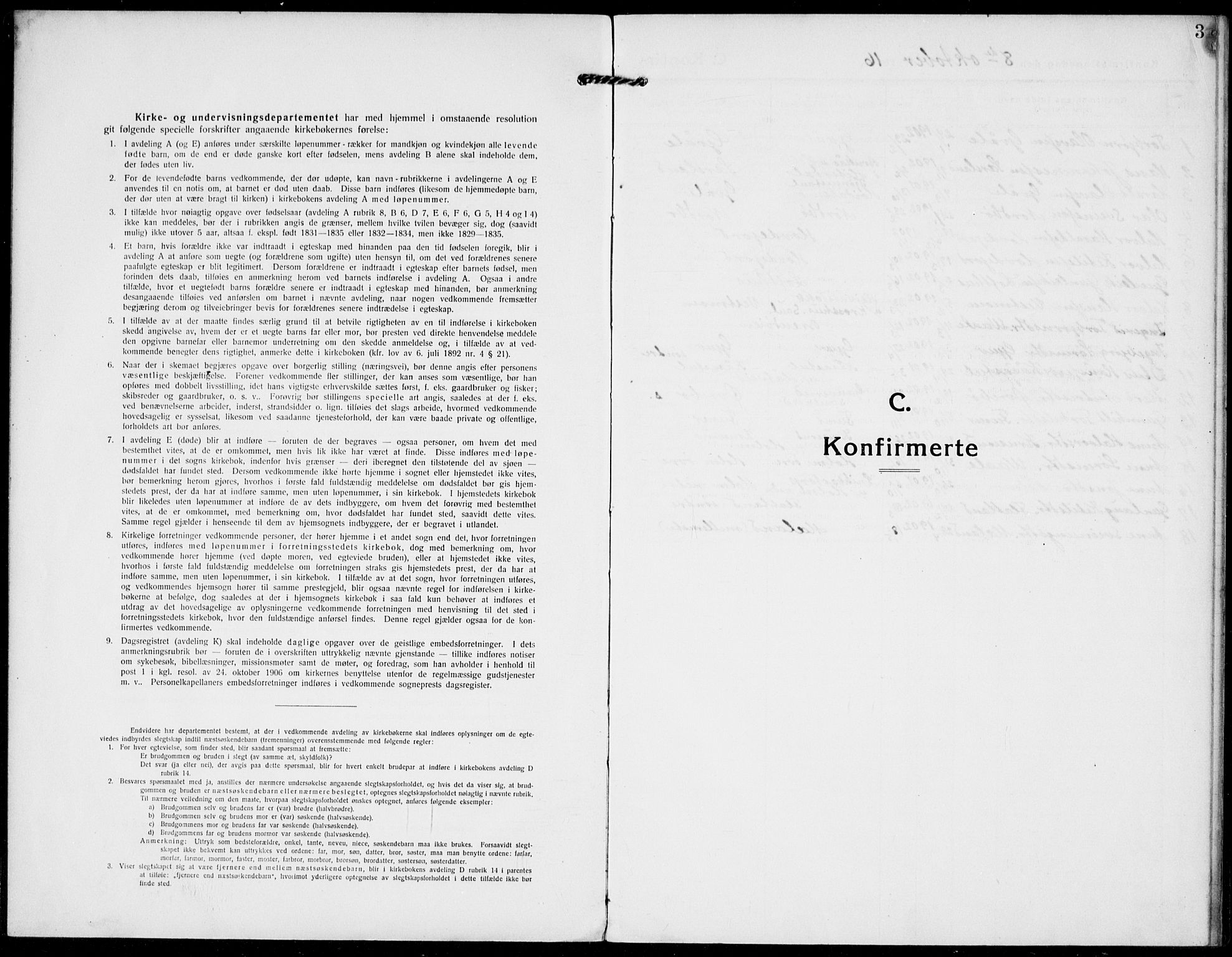 SAKO, Hjartdal kirkebøker, F/Fa/L0011: Ministerialbok nr. I 11, 1916-1929, s. 3