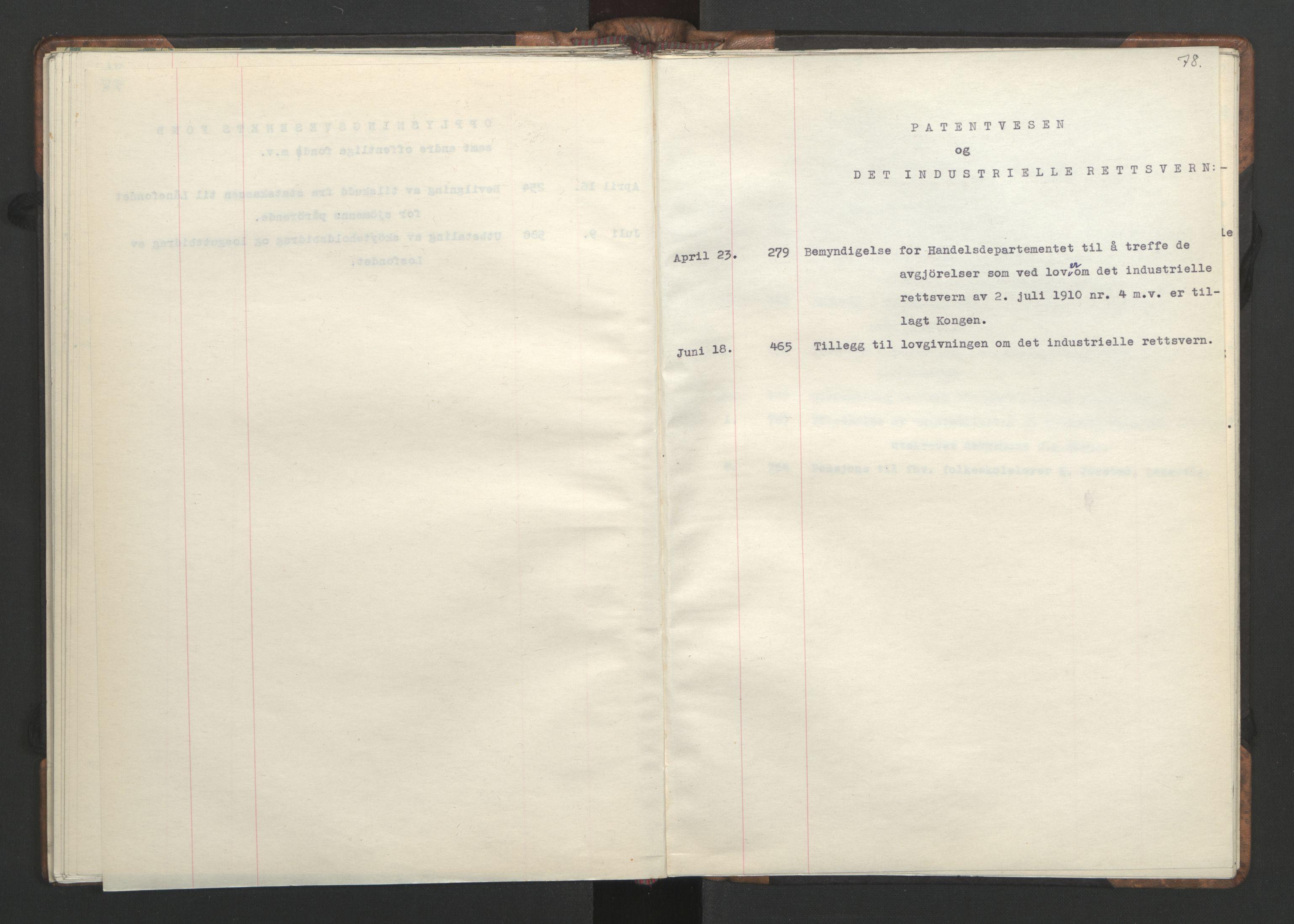 RA, NS-administrasjonen 1940-1945 (Statsrådsekretariatet, de kommisariske statsråder mm), D/Da/L0002: Register (RA j.nr. 985/1943, tilgangsnr. 17/1943), 1942, s. 77b-78a