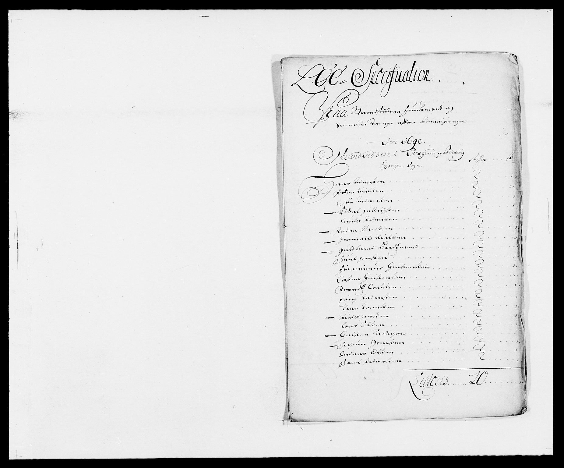 RA, Rentekammeret inntil 1814, Reviderte regnskaper, Fogderegnskap, R34/L2051: Fogderegnskap Bamble, 1688-1691, s. 115