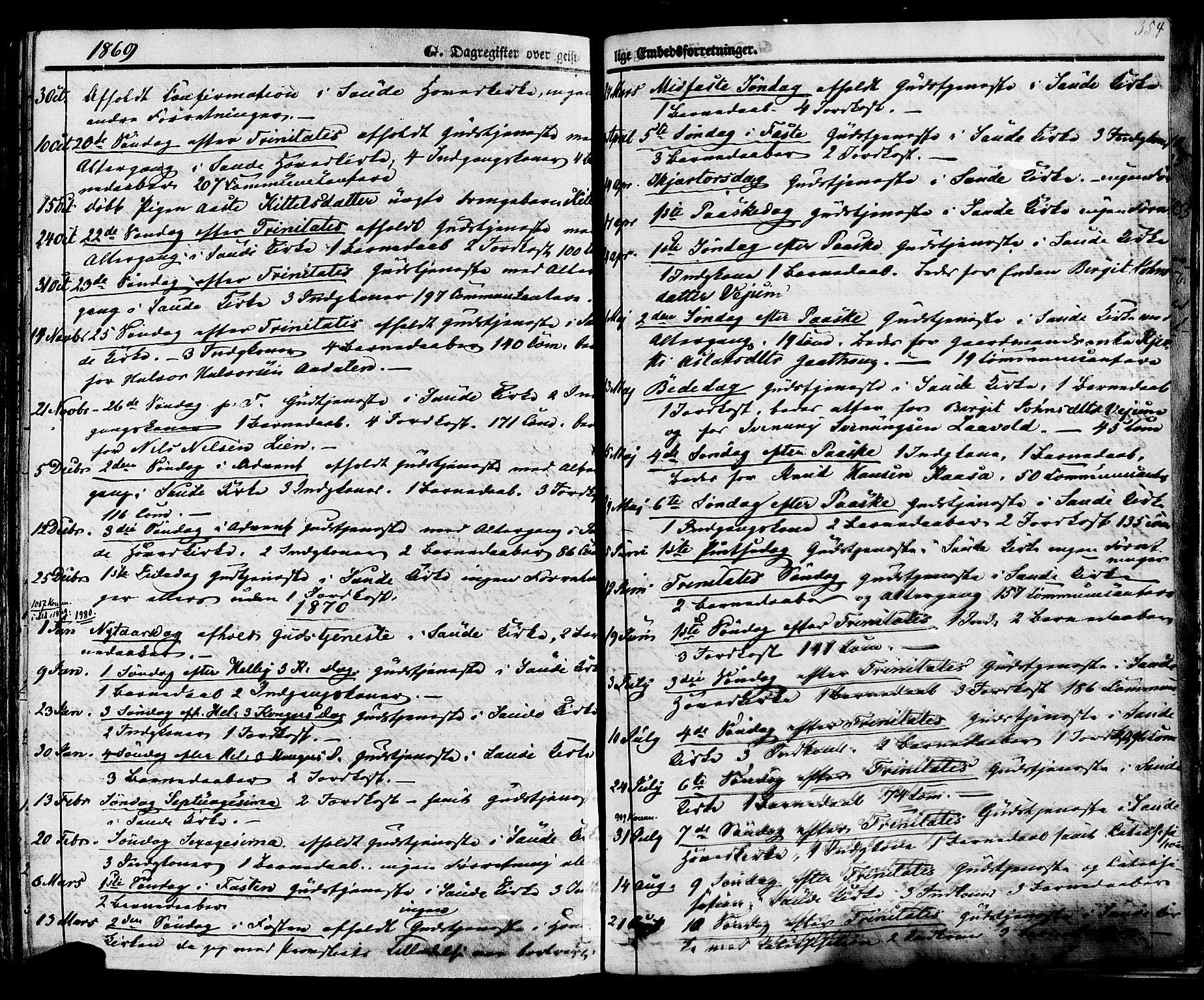 SAKO, Sauherad kirkebøker, F/Fa/L0007: Ministerialbok nr. I 7, 1851-1873, s. 354
