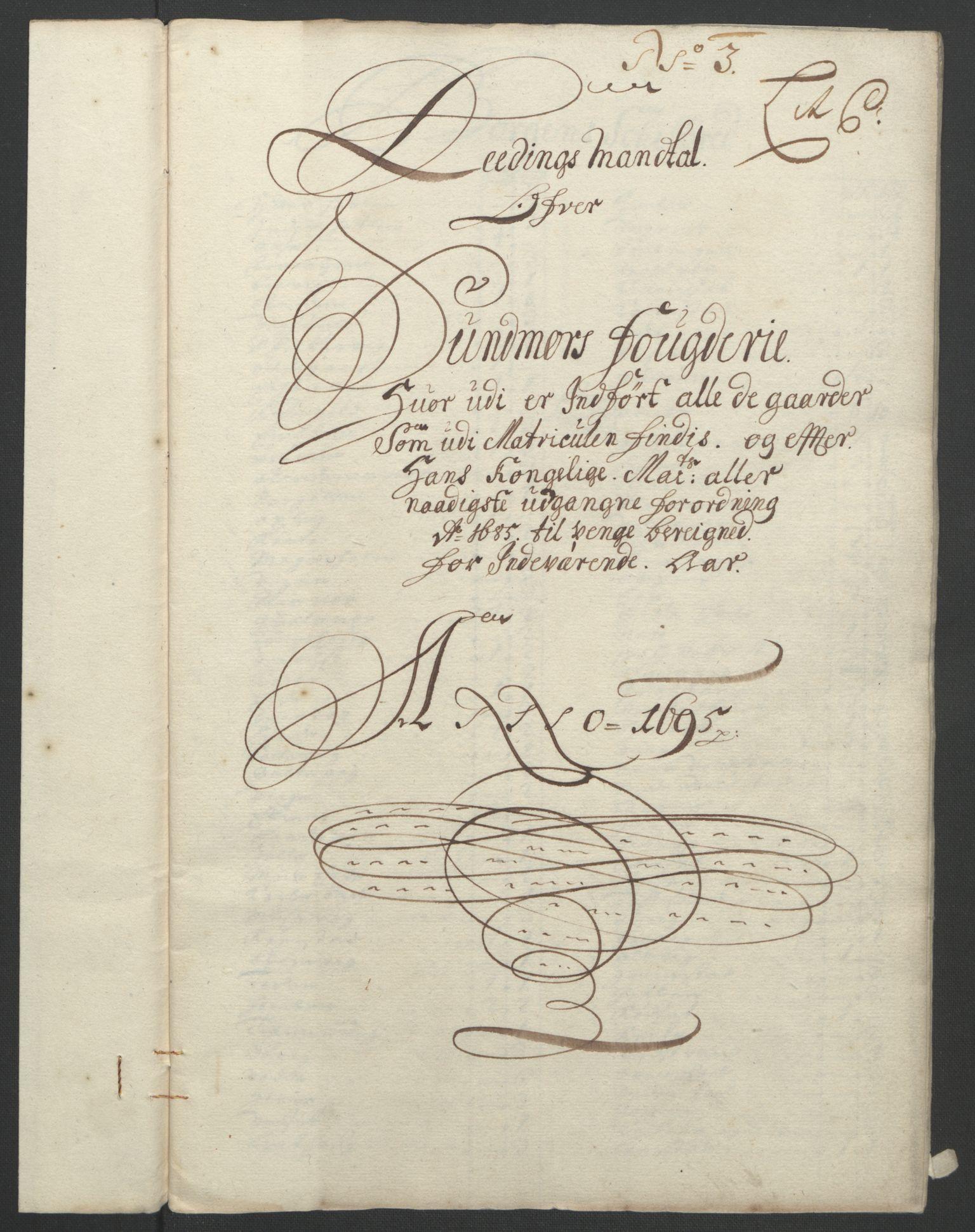 RA, Rentekammeret inntil 1814, Reviderte regnskaper, Fogderegnskap, R54/L3555: Fogderegnskap Sunnmøre, 1694-1695, s. 245