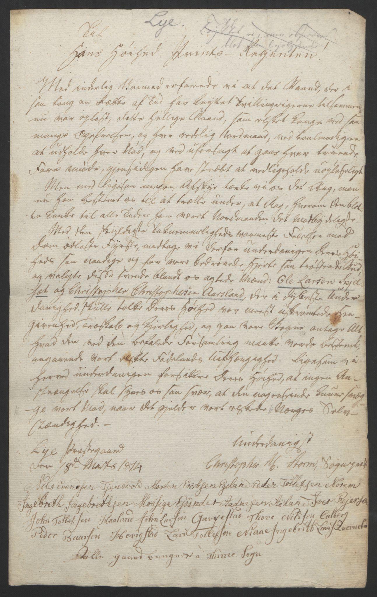 RA, Statsrådssekretariatet, D/Db/L0008: Fullmakter for Eidsvollsrepresentantene i 1814. , 1814, s. 234