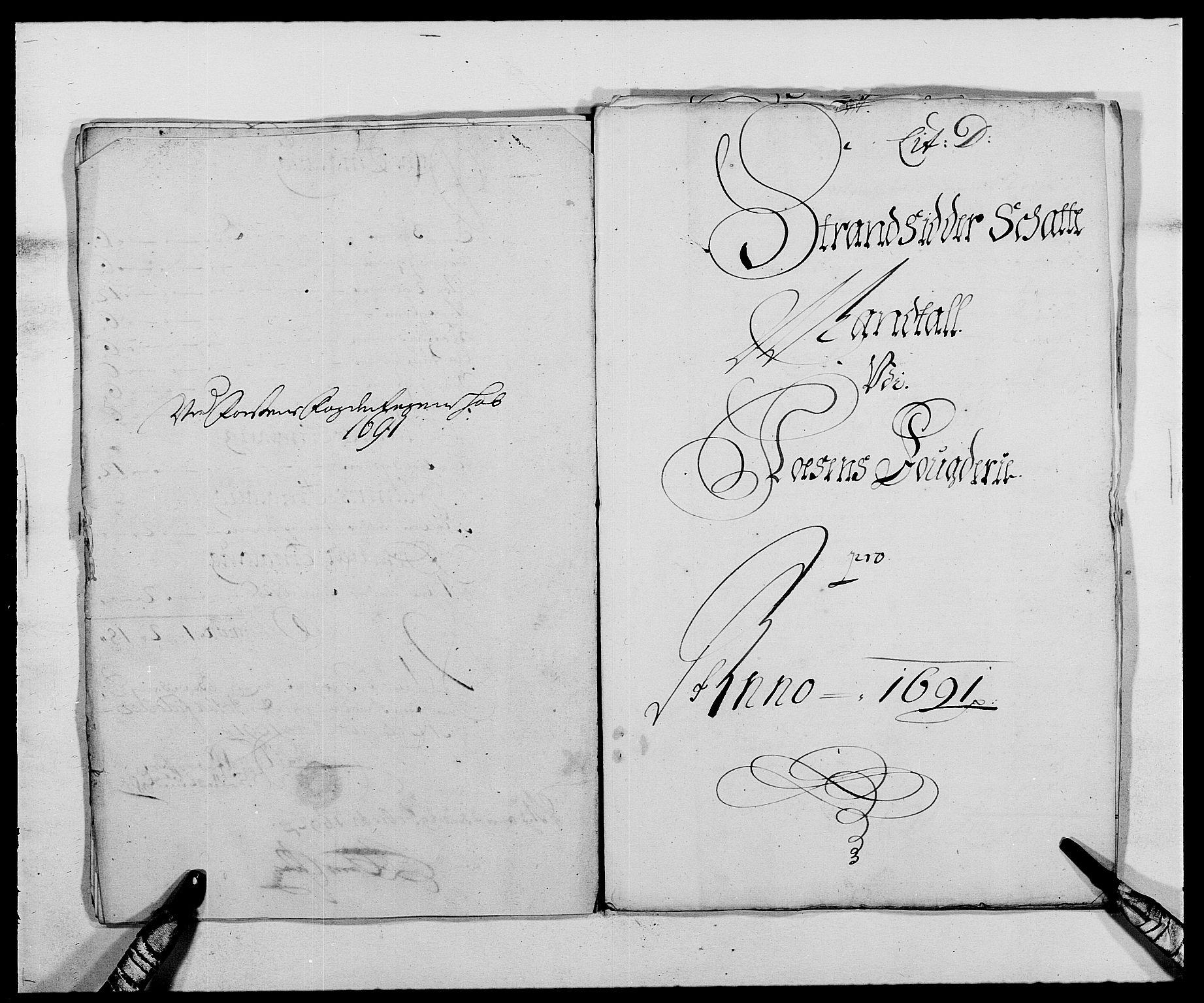 RA, Rentekammeret inntil 1814, Reviderte regnskaper, Fogderegnskap, R57/L3848: Fogderegnskap Fosen, 1690-1691, s. 223