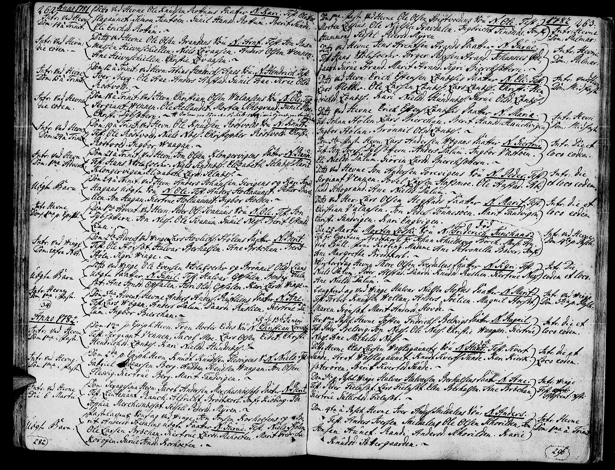 SAT, Ministerialprotokoller, klokkerbøker og fødselsregistre - Sør-Trøndelag, 630/L0489: Ministerialbok nr. 630A02, 1757-1794, s. 262-263