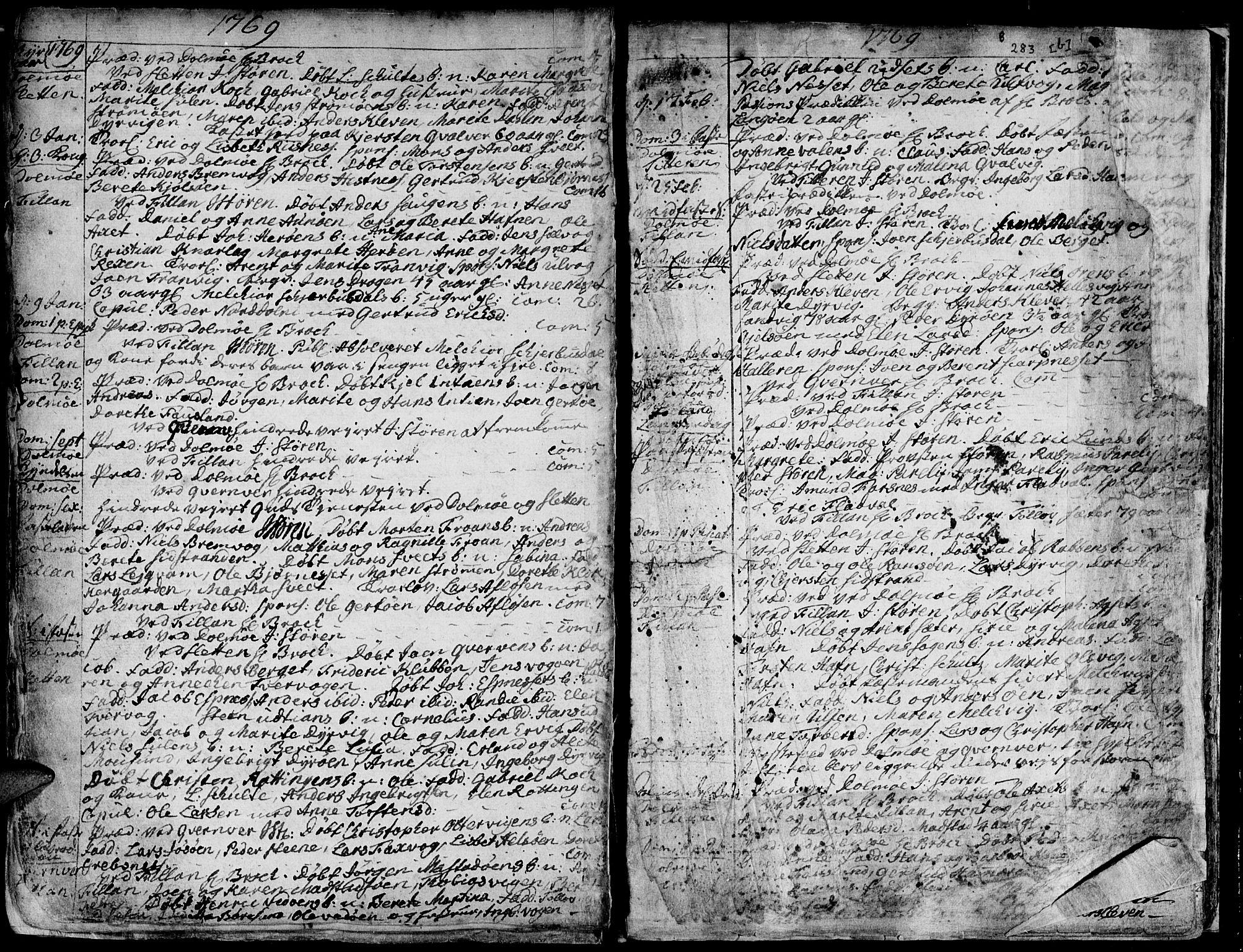 SAT, Ministerialprotokoller, klokkerbøker og fødselsregistre - Sør-Trøndelag, 634/L0525: Ministerialbok nr. 634A01, 1736-1775, s. 283