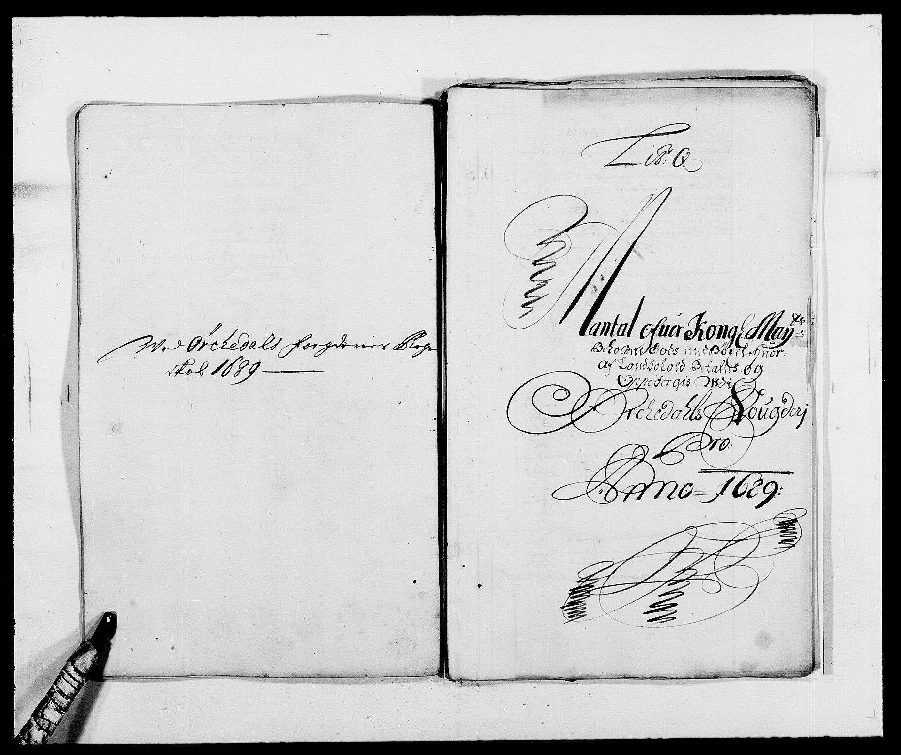 RA, Rentekammeret inntil 1814, Reviderte regnskaper, Fogderegnskap, R58/L3936: Fogderegnskap Orkdal, 1689-1690, s. 164