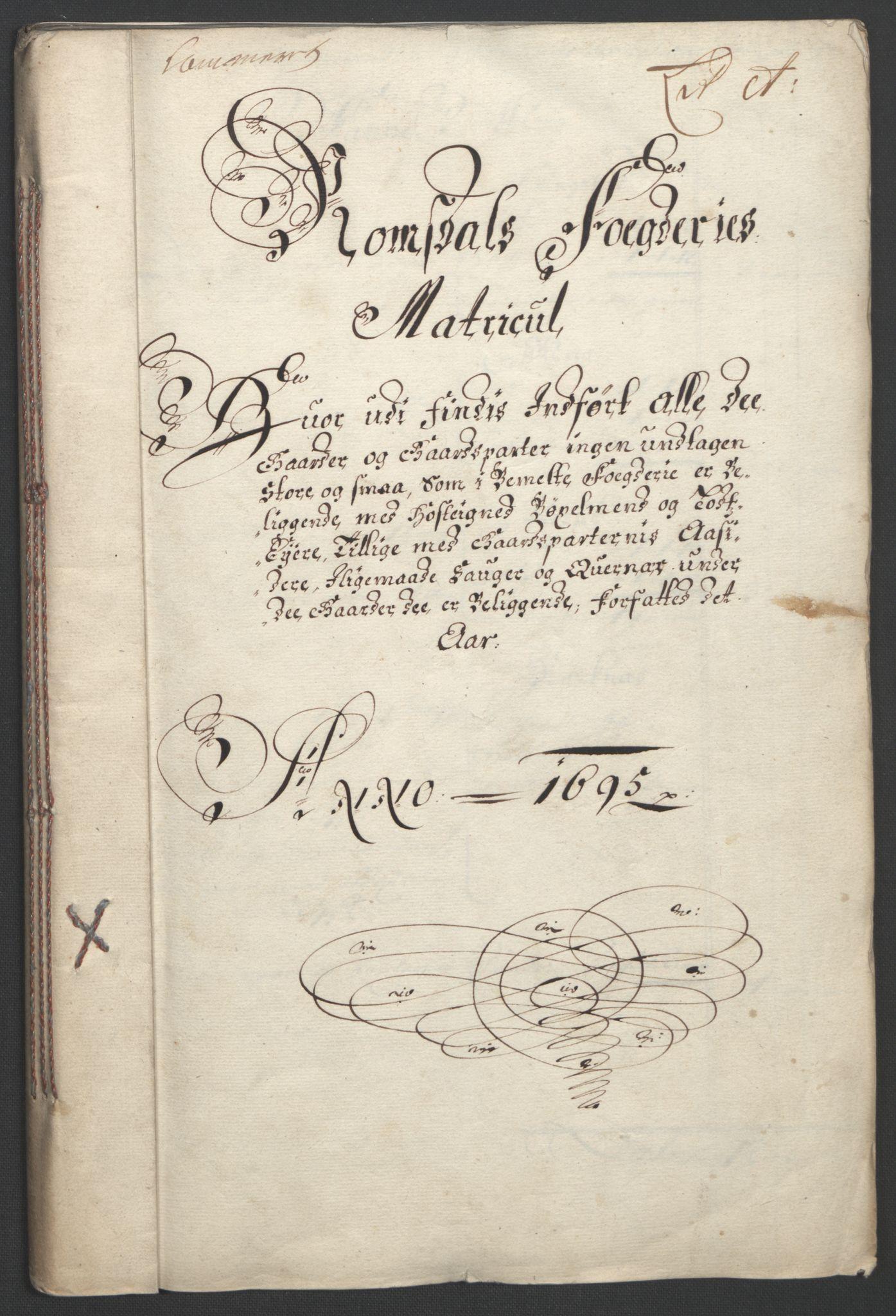 RA, Rentekammeret inntil 1814, Reviderte regnskaper, Fogderegnskap, R55/L3652: Fogderegnskap Romsdal, 1695-1696, s. 10