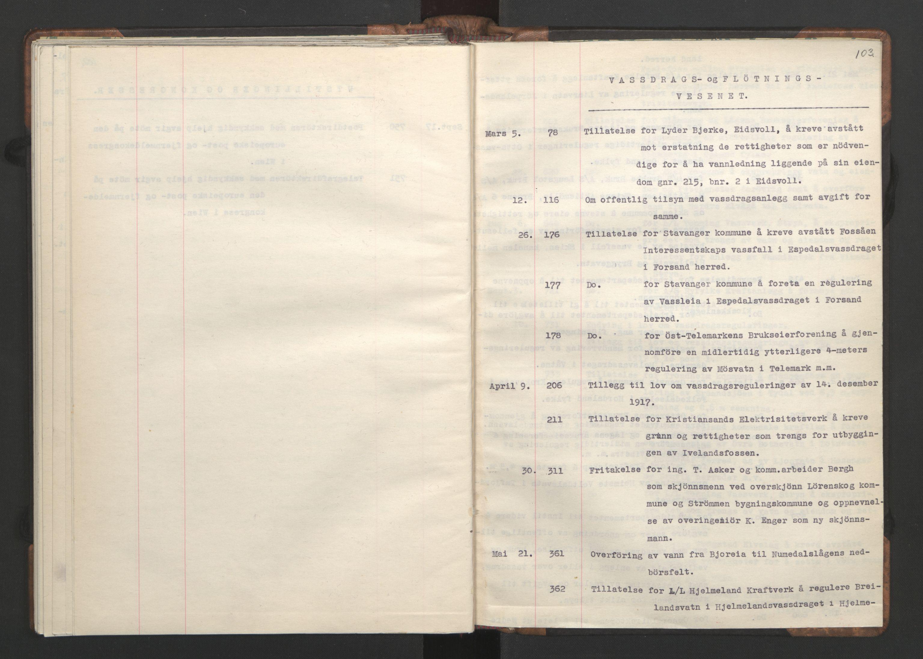 RA, NS-administrasjonen 1940-1945 (Statsrådsekretariatet, de kommisariske statsråder mm), D/Da/L0002: Register (RA j.nr. 985/1943, tilgangsnr. 17/1943), 1942, s. 102b-103a